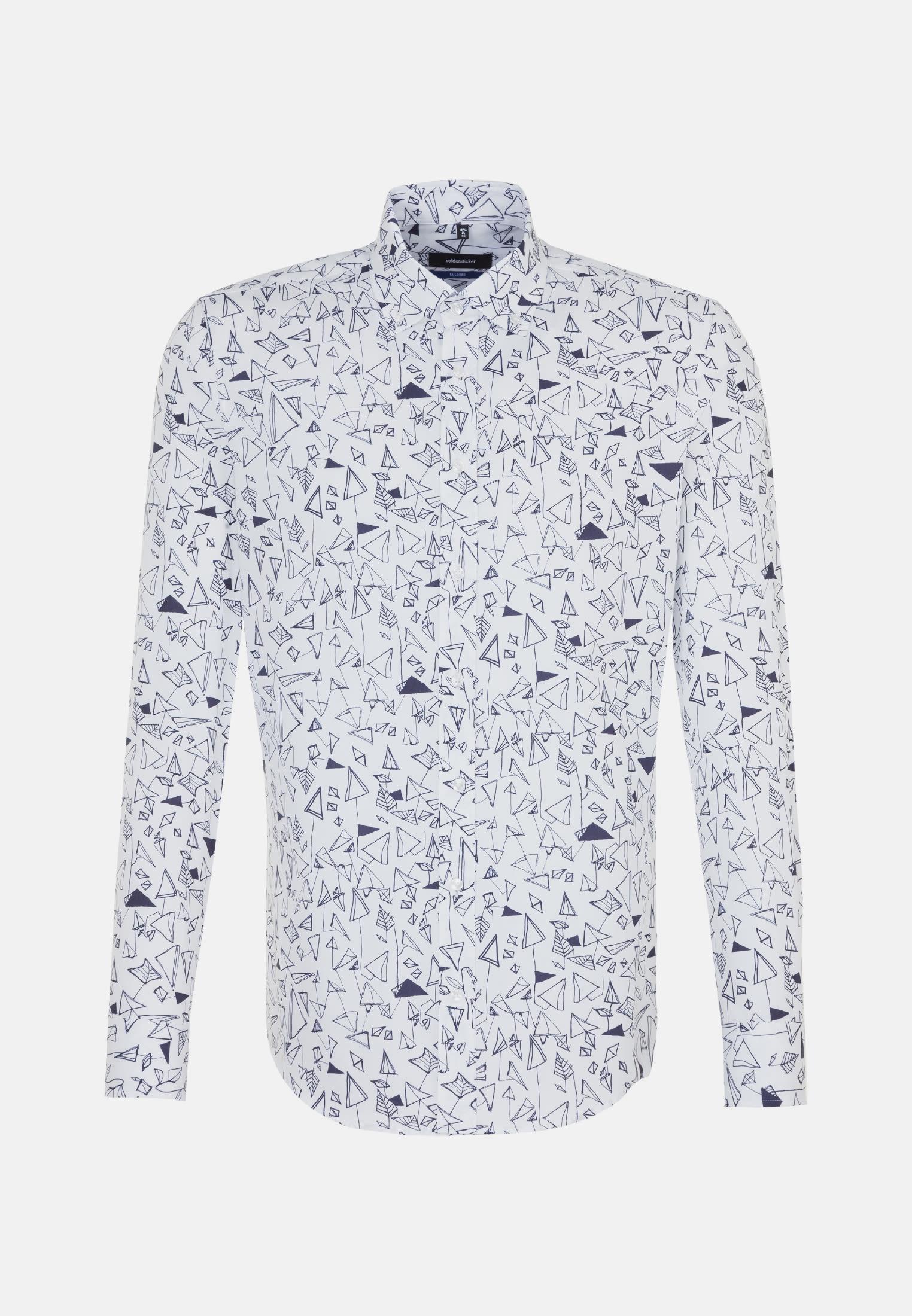 Easy-iron Poplin Business Shirt in Shaped with Button-Down-Collar in Dark blue |  Seidensticker Onlineshop