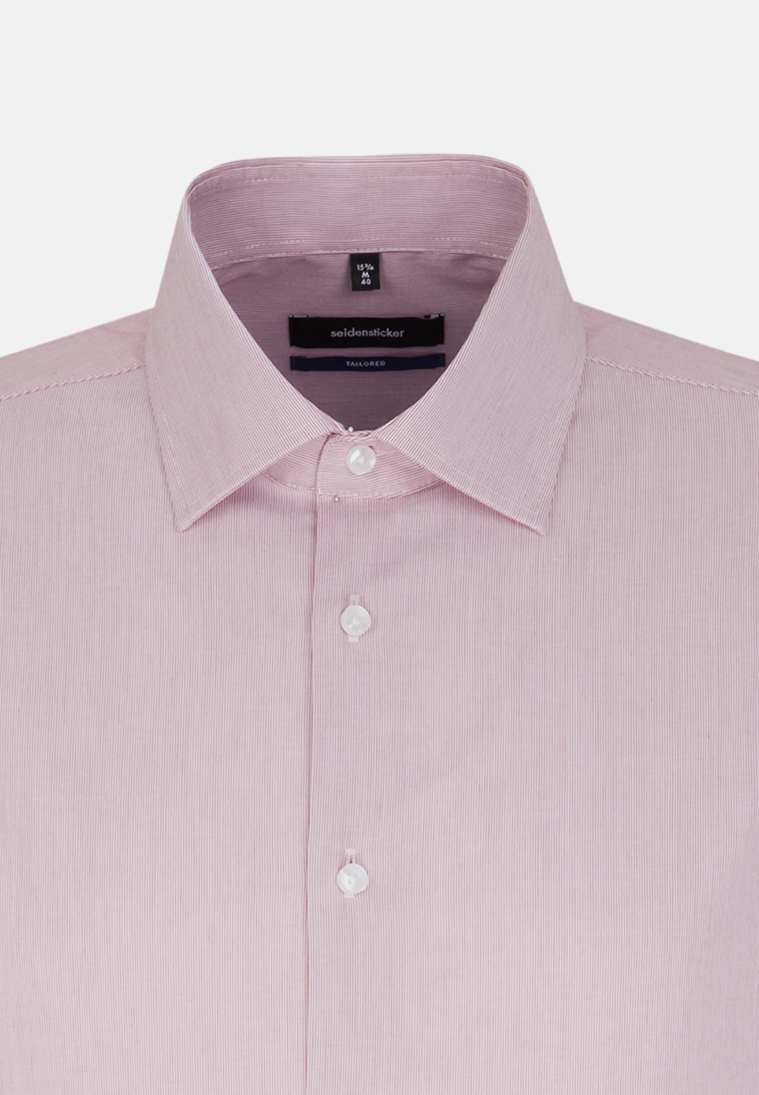 Bügelfreies Popeline Business Hemd in Shaped mit Kentkragen und extra langem Arm in Rot    Seidensticker Onlineshop