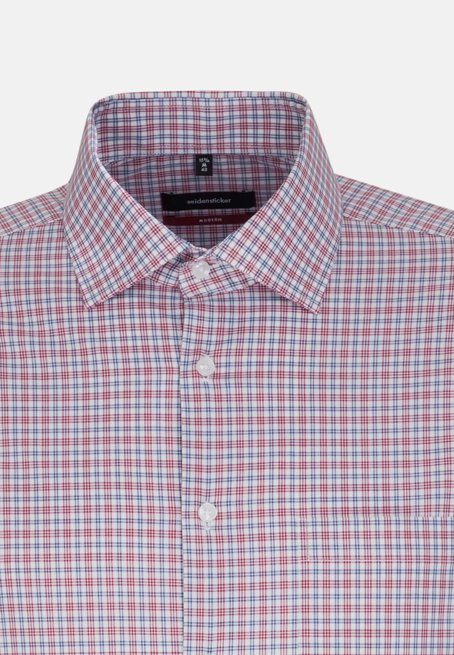Non-iron Poplin Business Shirt in Modern with Kent-Collar in Red |  Seidensticker Onlineshop