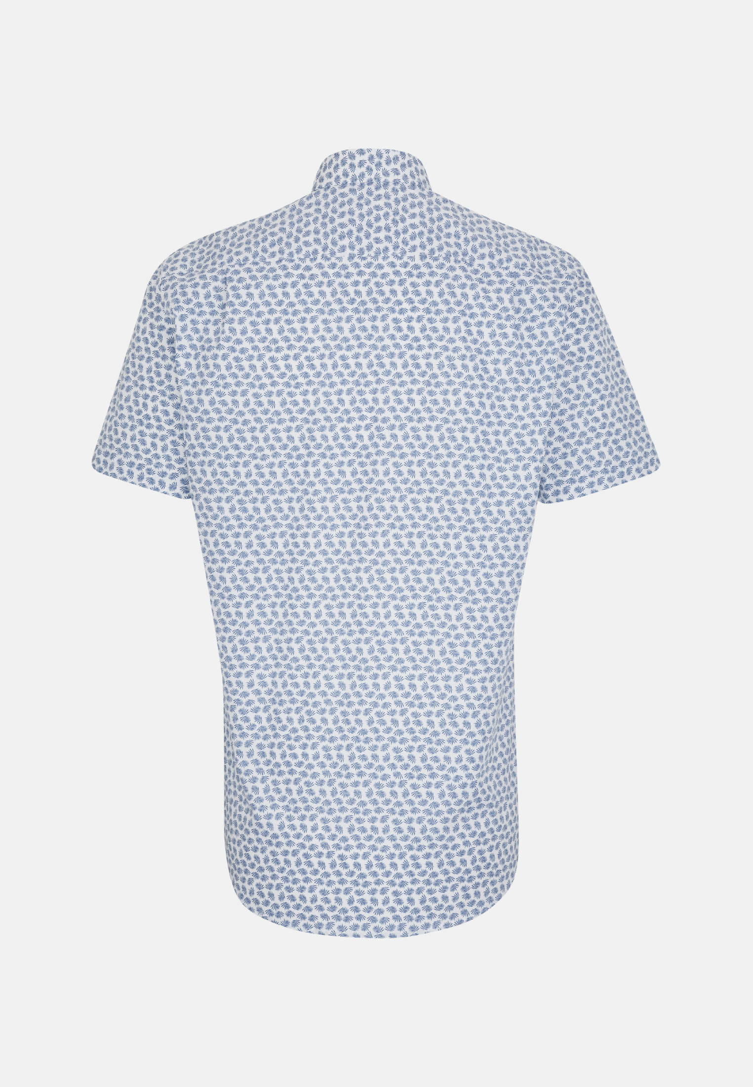 Easy-iron Poplin Short sleeve Business Shirt in Regular with Covered-Button-Down-Collar in Medium blue |  Seidensticker Onlineshop
