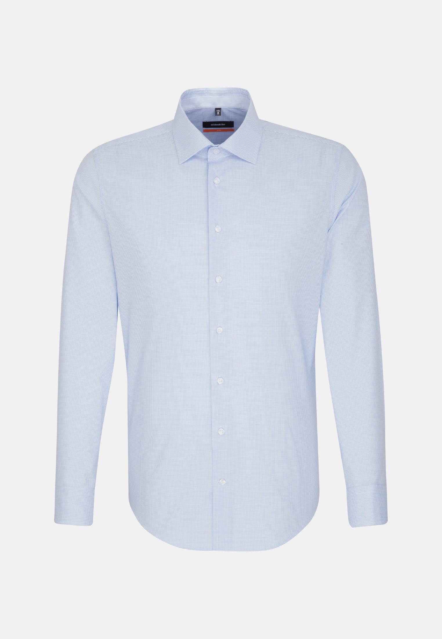 Non-iron Poplin Business Shirt in Slim with Kent-Collar in Light blue    Seidensticker Onlineshop