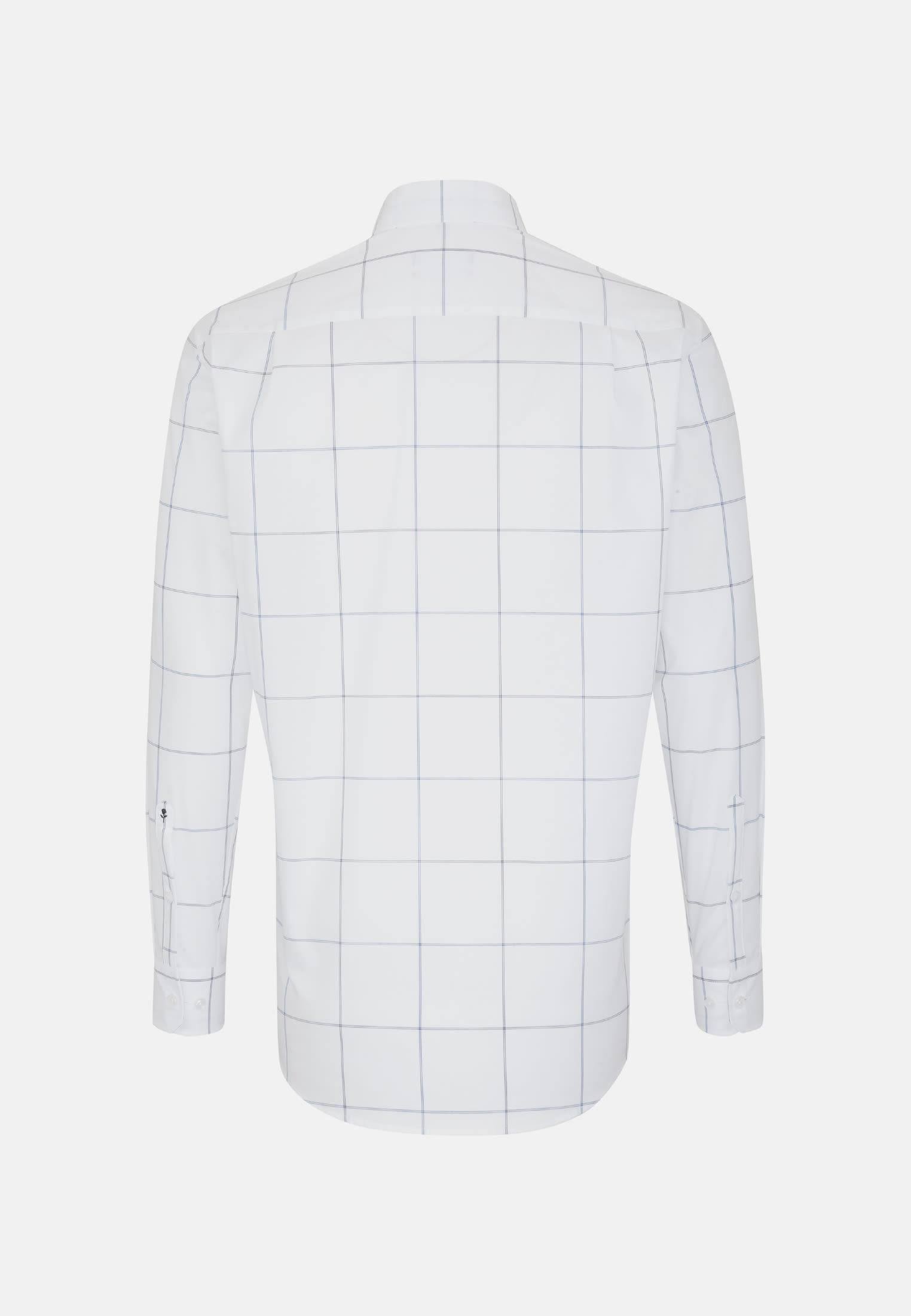Bügelfreies Popeline Business Hemd in Regular mit Covered-Button-Down-Kragen in Mittelblau |  Seidensticker Onlineshop