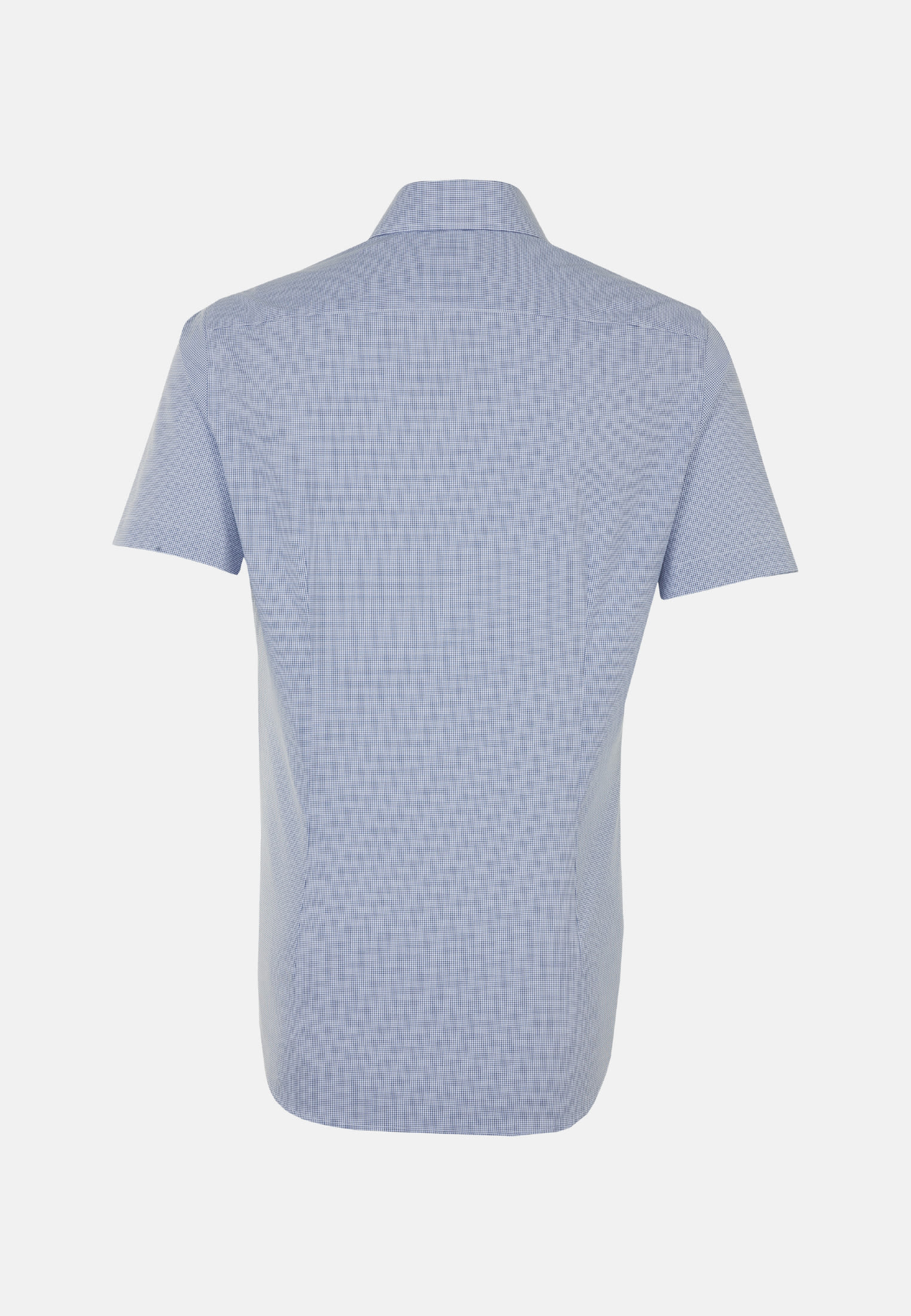 Non-iron Poplin Short sleeve Business Shirt in Slim with Kent-Collar in Medium blue |  Seidensticker Onlineshop
