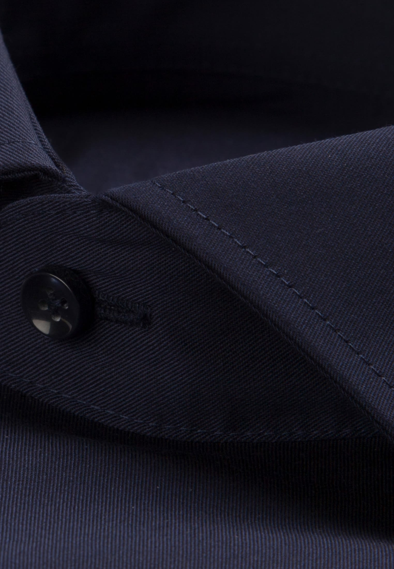 Non-iron Twill Business Shirt in Slim with Kent-Collar and extra long arm in Dark blue |  Seidensticker Onlineshop
