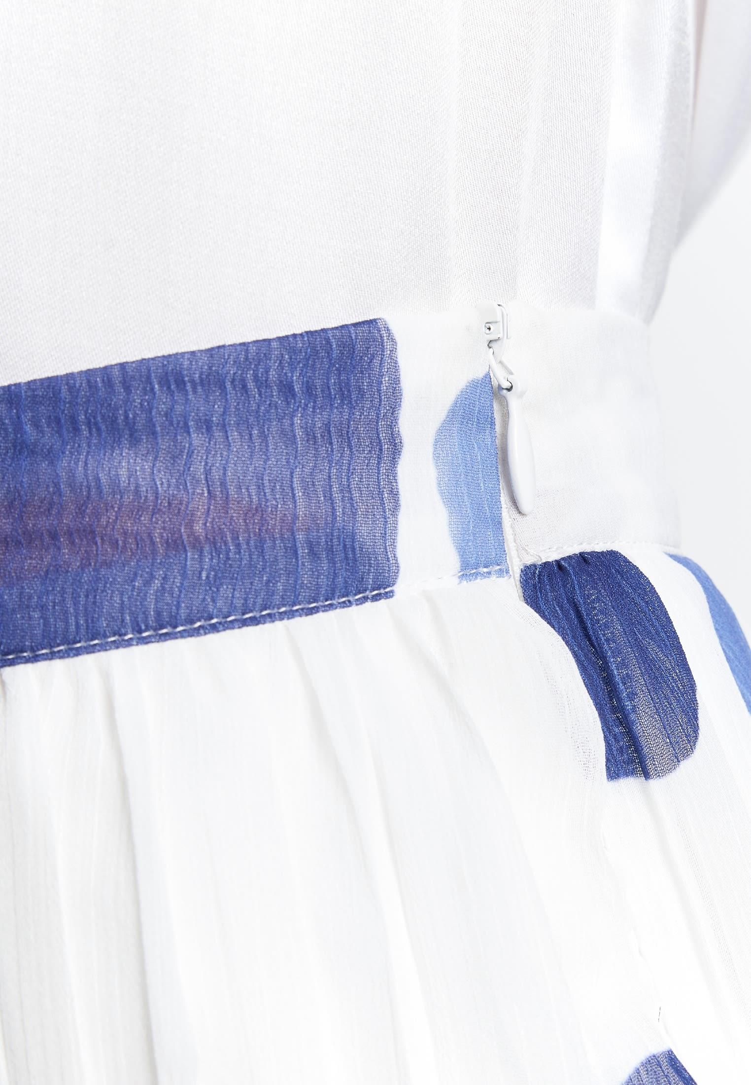 Krepp Midi Rock aus 100% Polyester in Mittelblau    Seidensticker Onlineshop