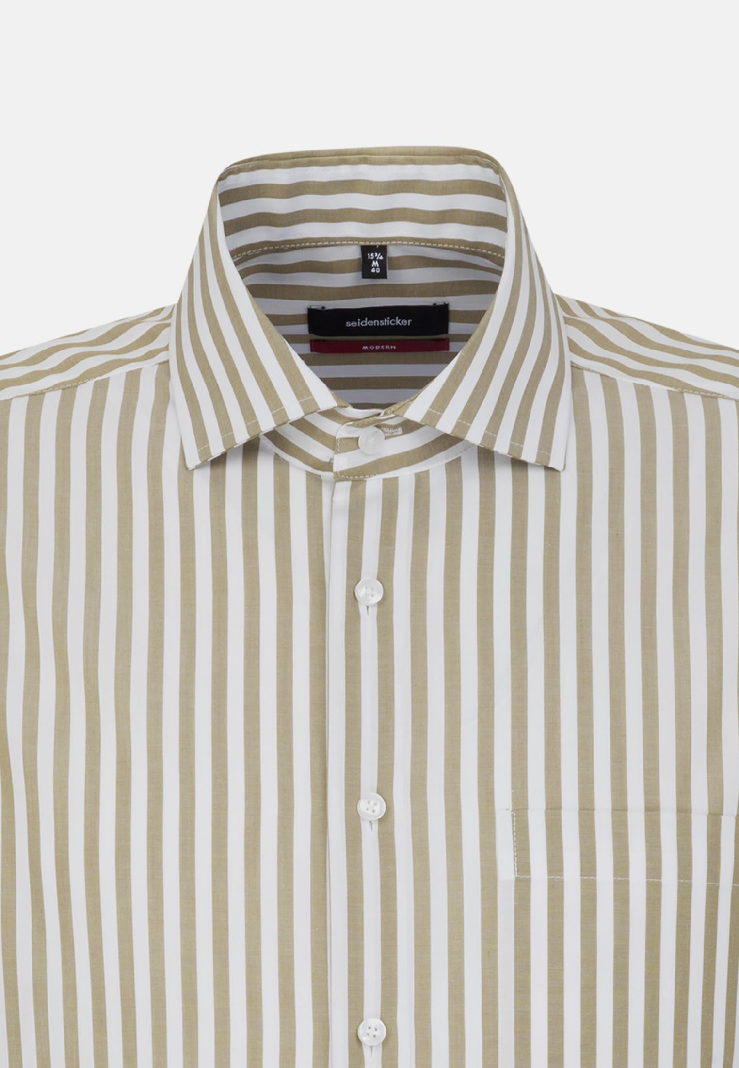 Bügelfreies Popeline Business Hemd in Modern mit Kentkragen in Grün |  Seidensticker Onlineshop