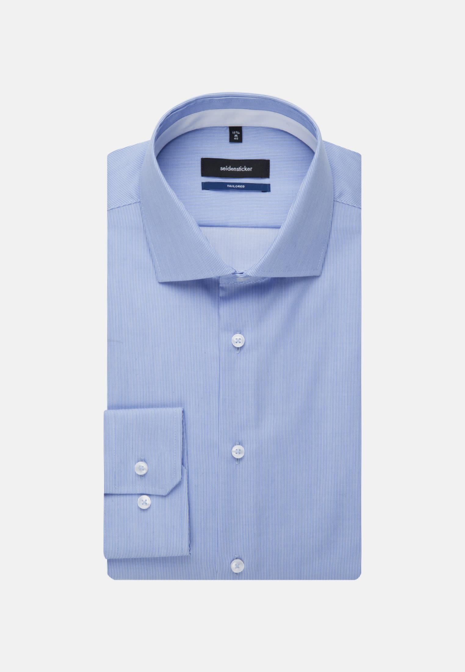 Bügelfreies Twill Business Hemd in Shaped mit Kentkragen in Hellblau |  Seidensticker Onlineshop