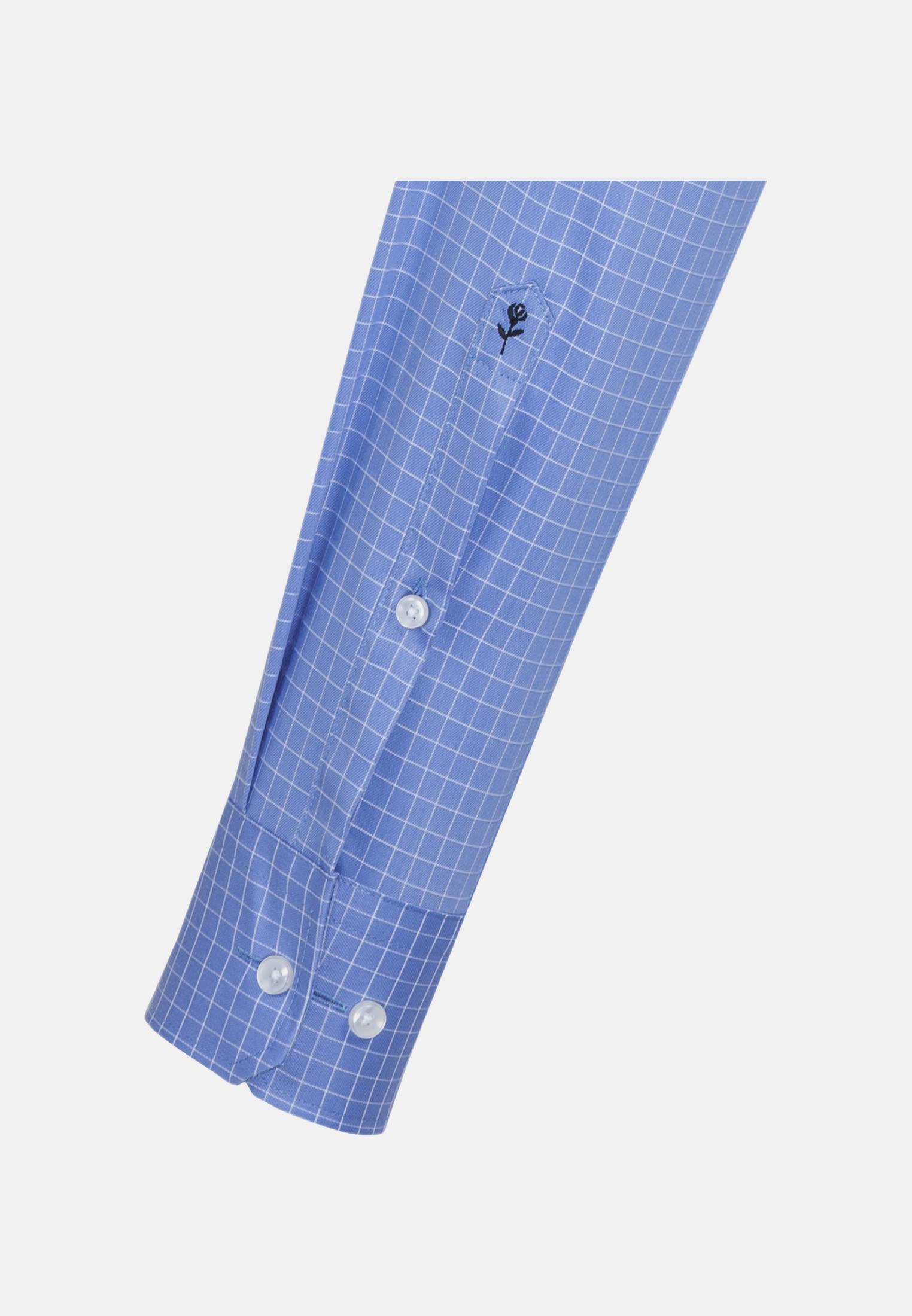 Easy-iron Structure Business Shirt in Comfort with Kent-Collar in blau |  Seidensticker Onlineshop