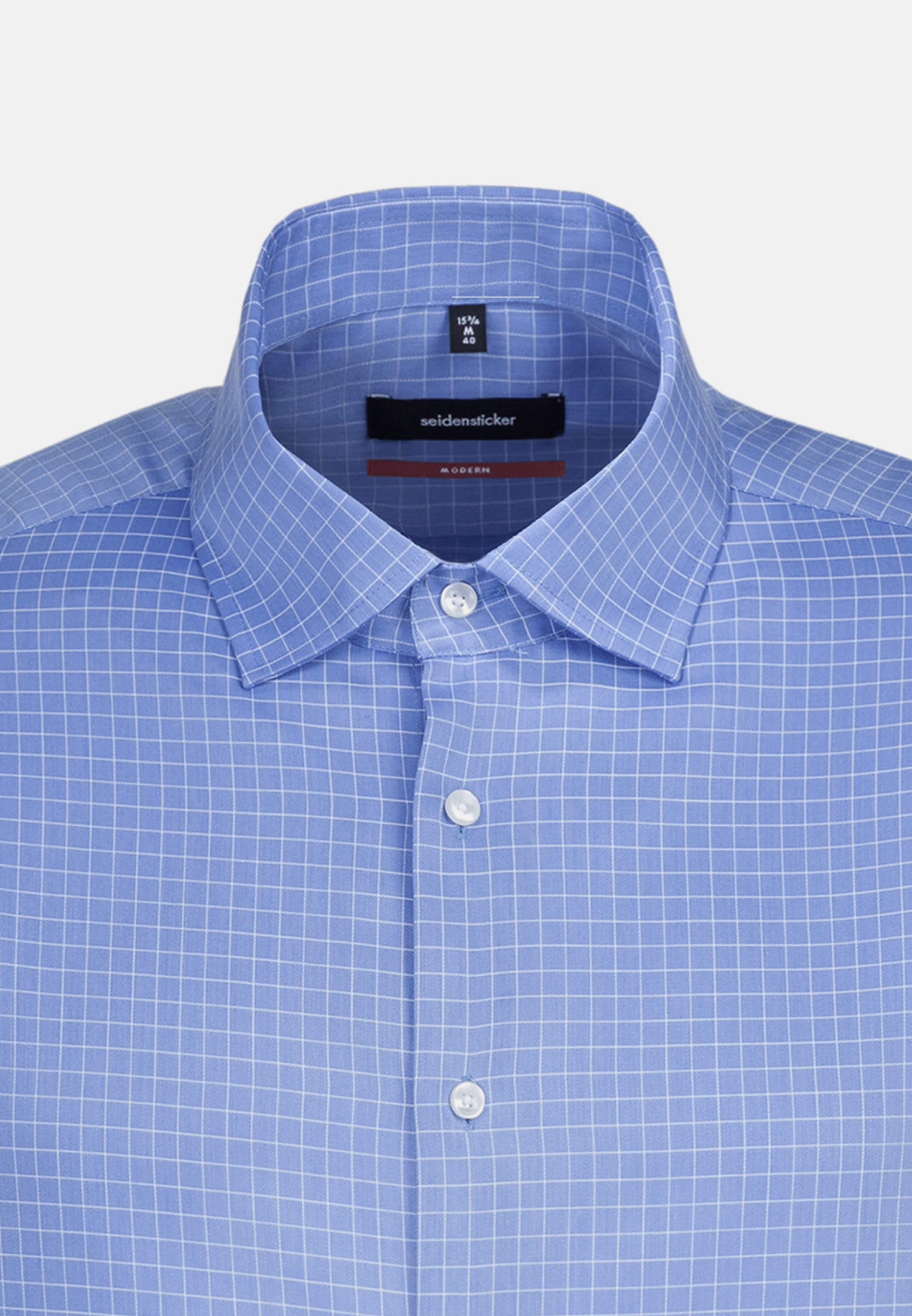 Easy-iron Structure Business Shirt in Comfort with Kent-Collar in Light blue |  Seidensticker Onlineshop