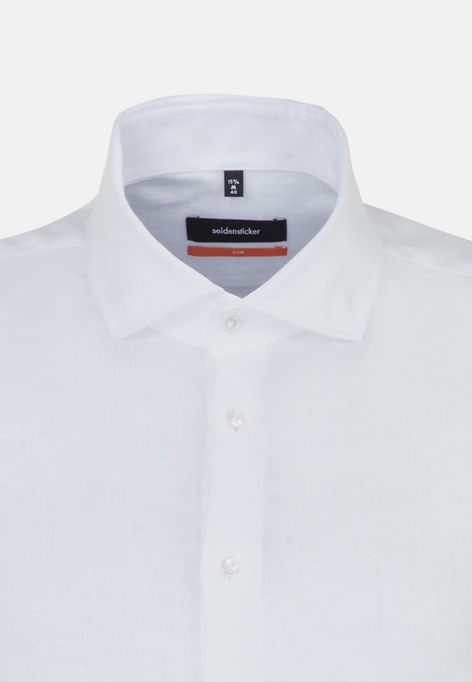 Twill Business Shirt in Slim with Kent-Collar in White |  Seidensticker Onlineshop
