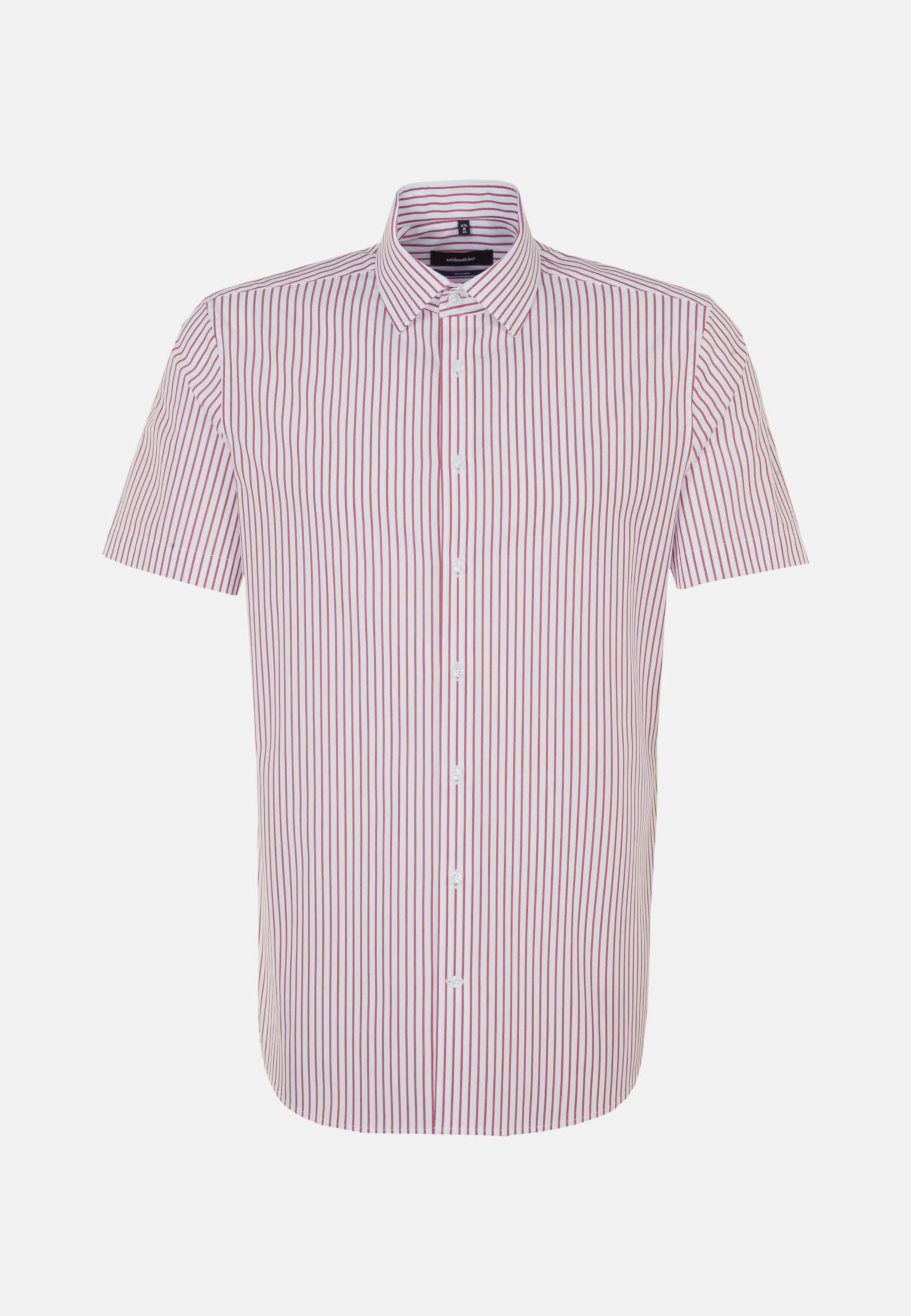 Non-iron Poplin Short sleeve Business Shirt in Shaped with Kent-Collar in Red |  Seidensticker Onlineshop