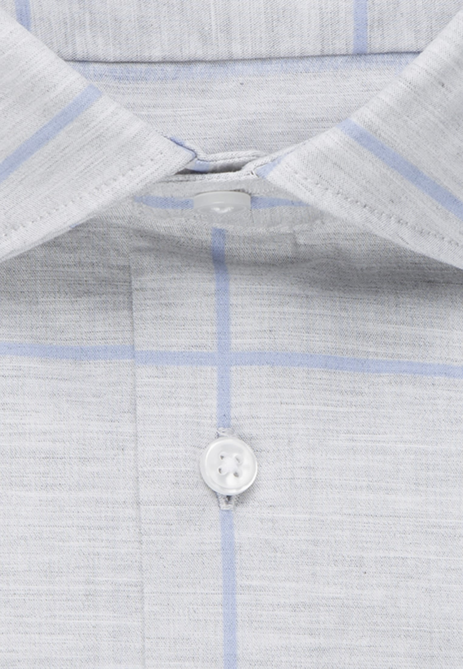 Easy-iron Melange yarns Business Shirt in X-Slim with Kent-Collar in Grey |  Seidensticker Onlineshop