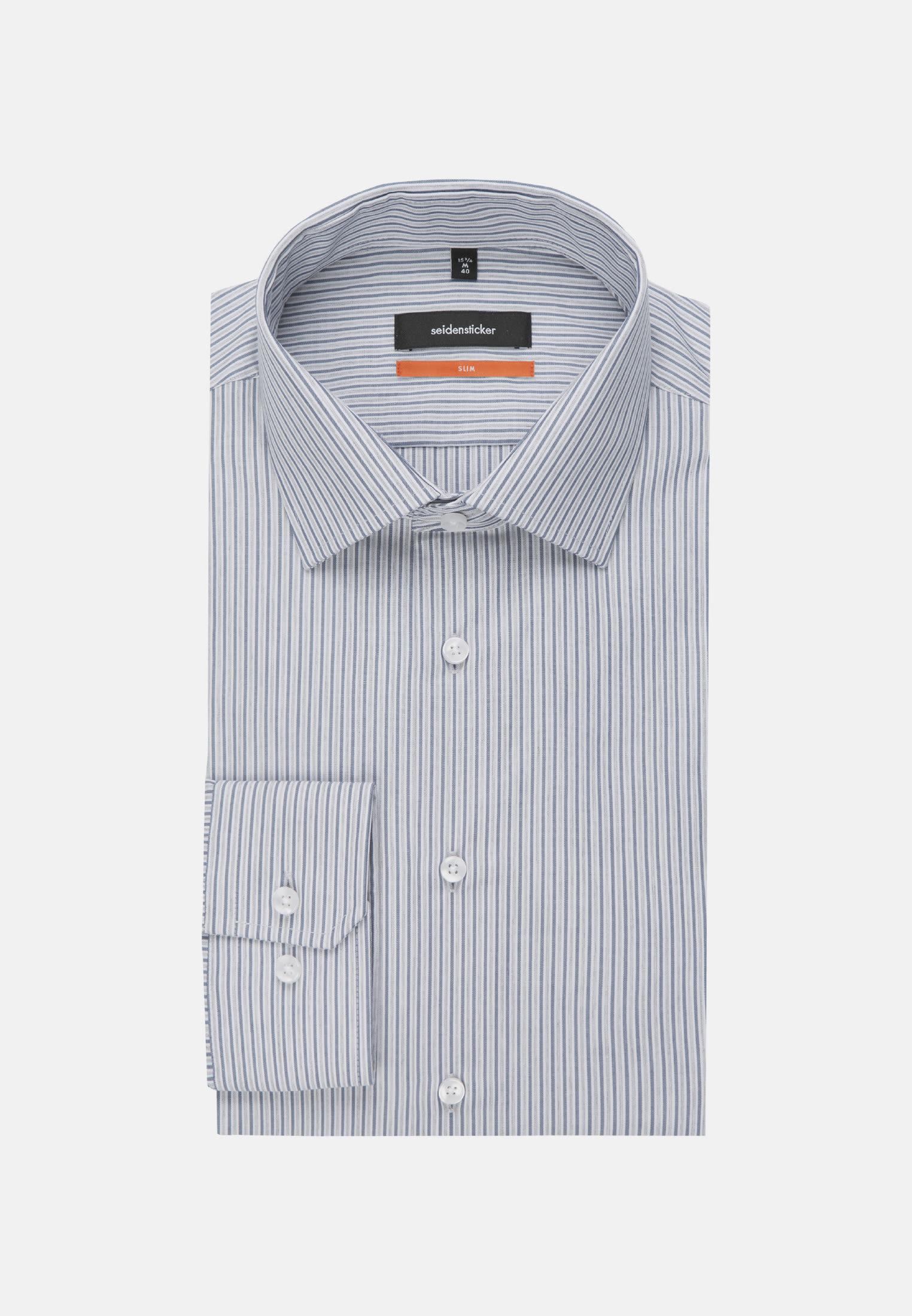 Easy-iron Poplin Business Shirt in Slim with Kent-Collar in blau |  Seidensticker Onlineshop