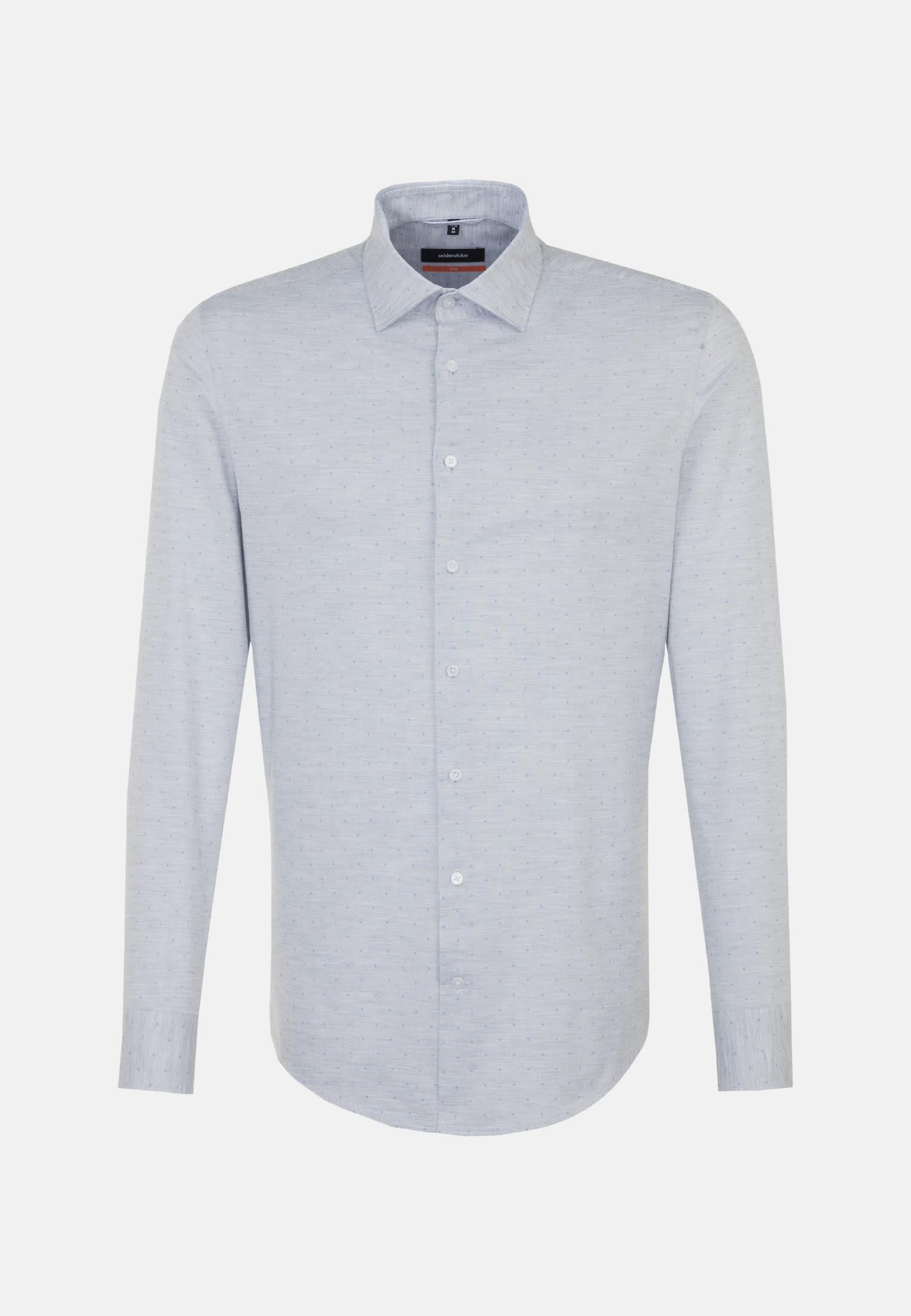 Bügelleichtes Melange Garne Business Hemd in Slim mit Kentkragen in Grau |  Seidensticker Onlineshop
