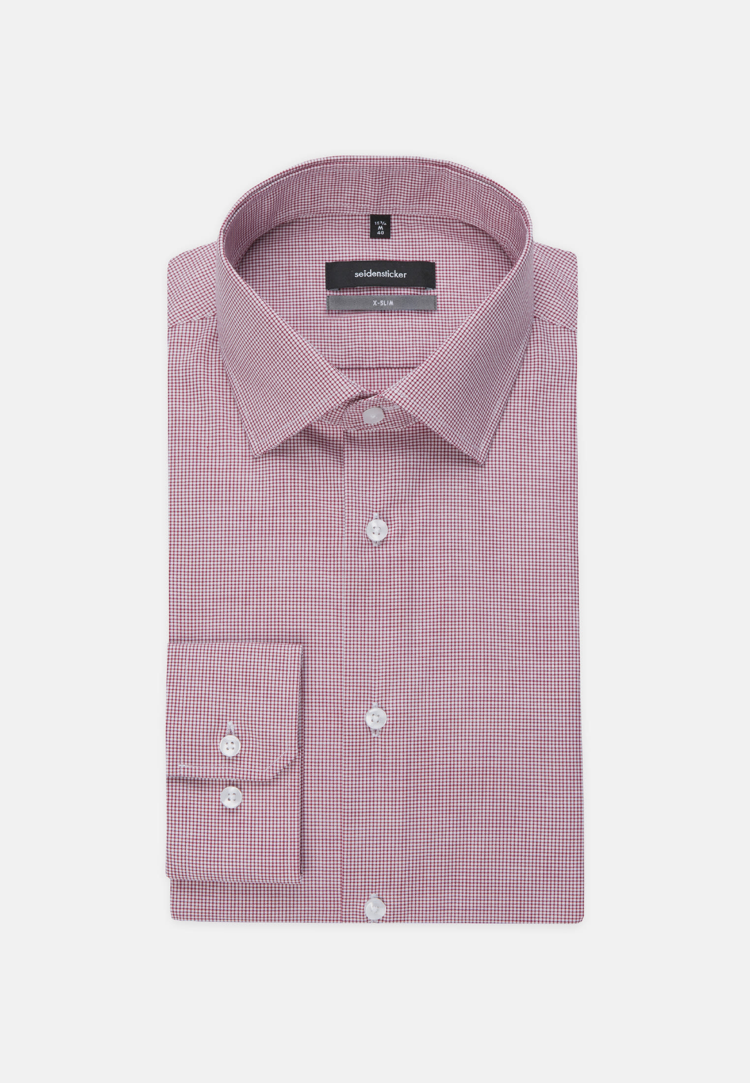 Non-iron Poplin Business Shirt in X-Slim with Kent-Collar and extra long arm in Red |  Seidensticker Onlineshop