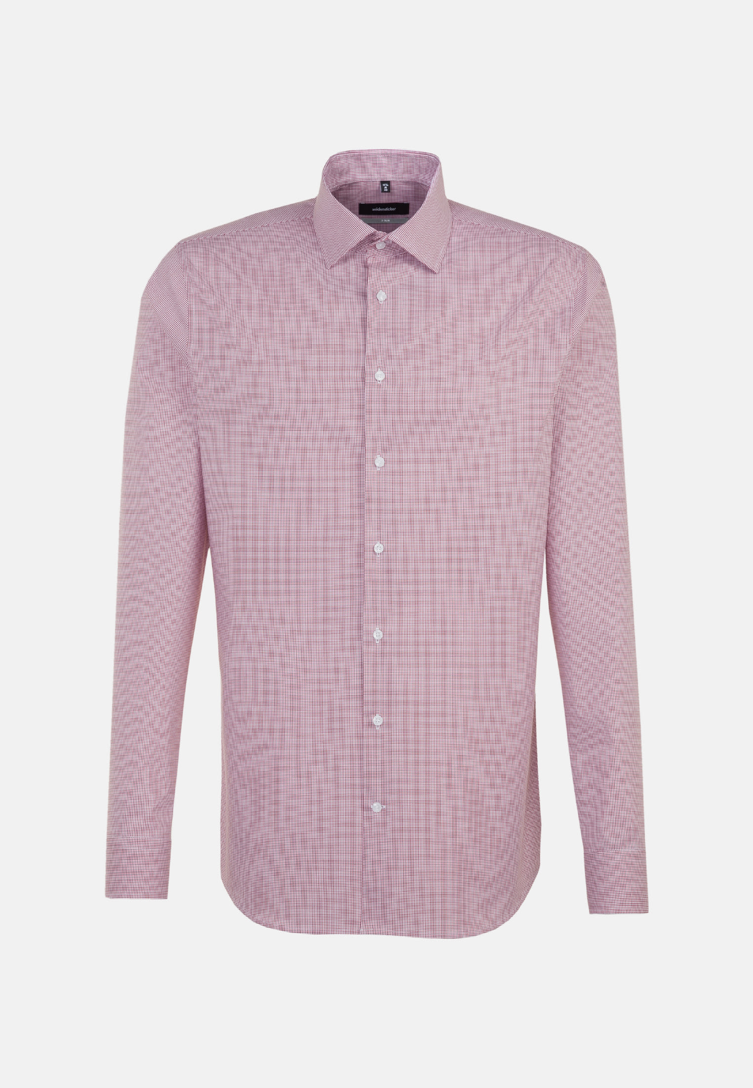 Non-iron Poplin Business Shirt in X-Slim with Kent-Collar and extra long arm in rot |  Seidensticker Onlineshop