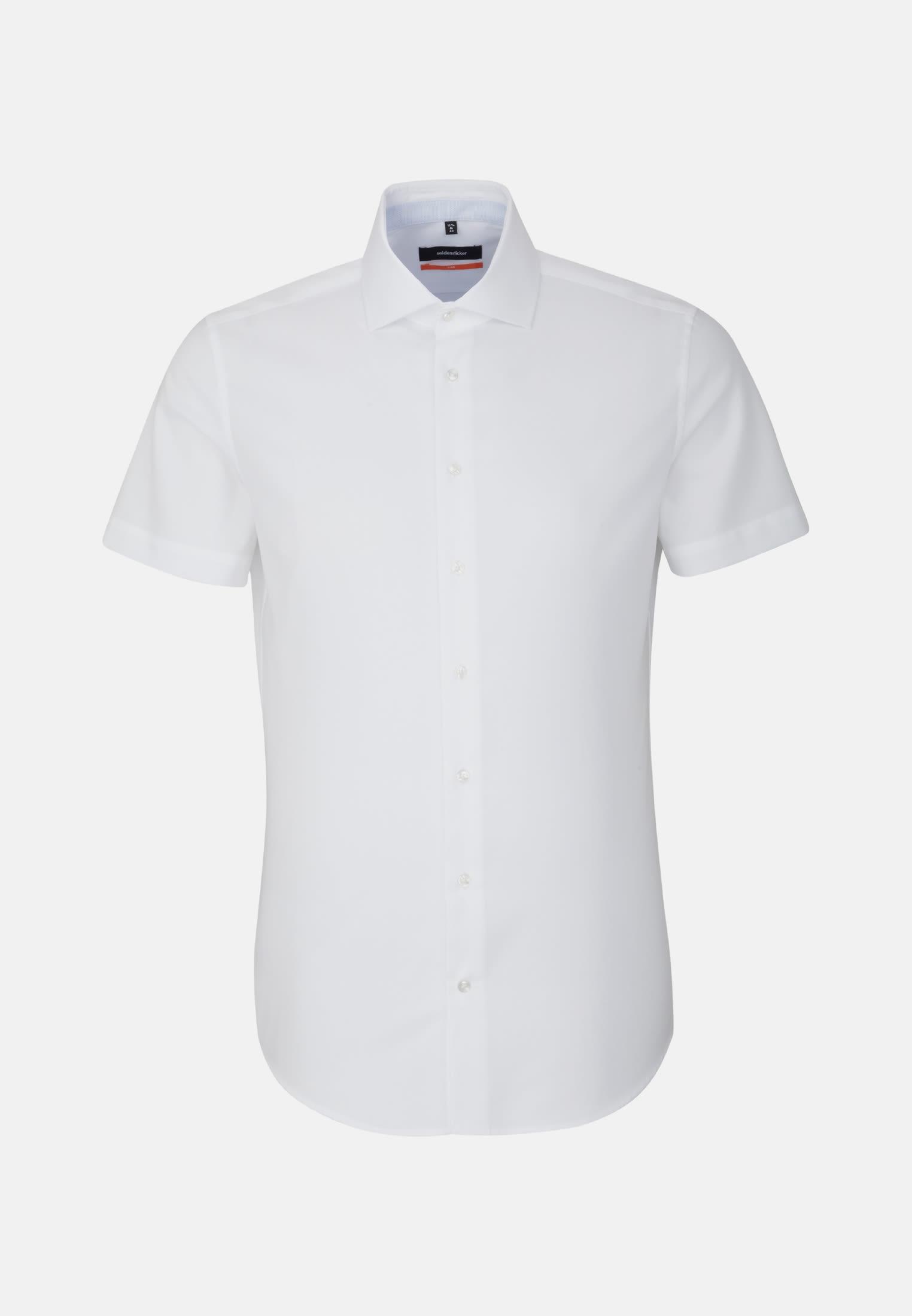 Easy-iron Structure Short sleeve Business Shirt in Slim with Kent-Collar in White |  Seidensticker Onlineshop