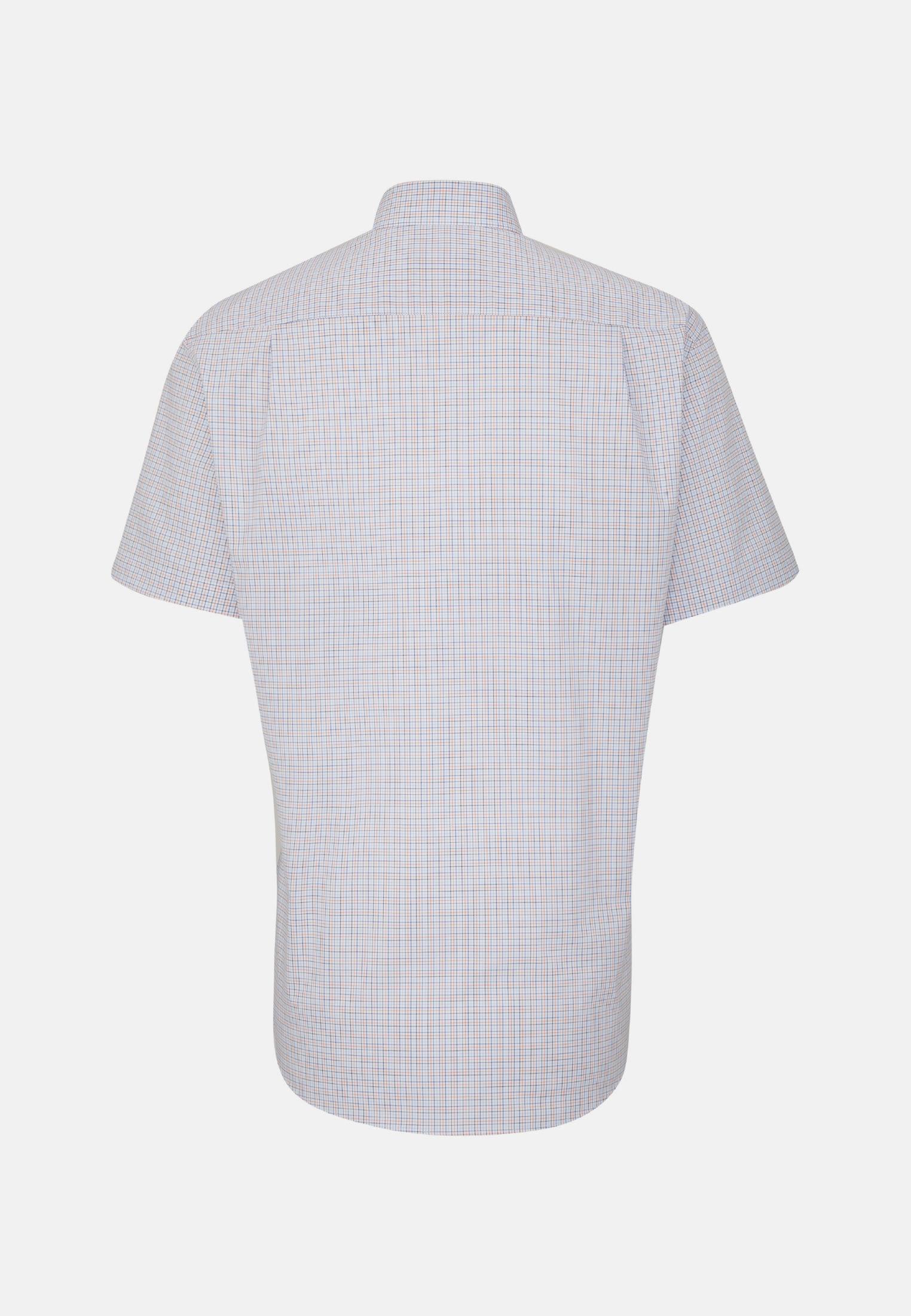 Bügelfreies Popeline Kurzarm Business Hemd in Regular mit Button-Down-Kragen in Orange |  Seidensticker Onlineshop