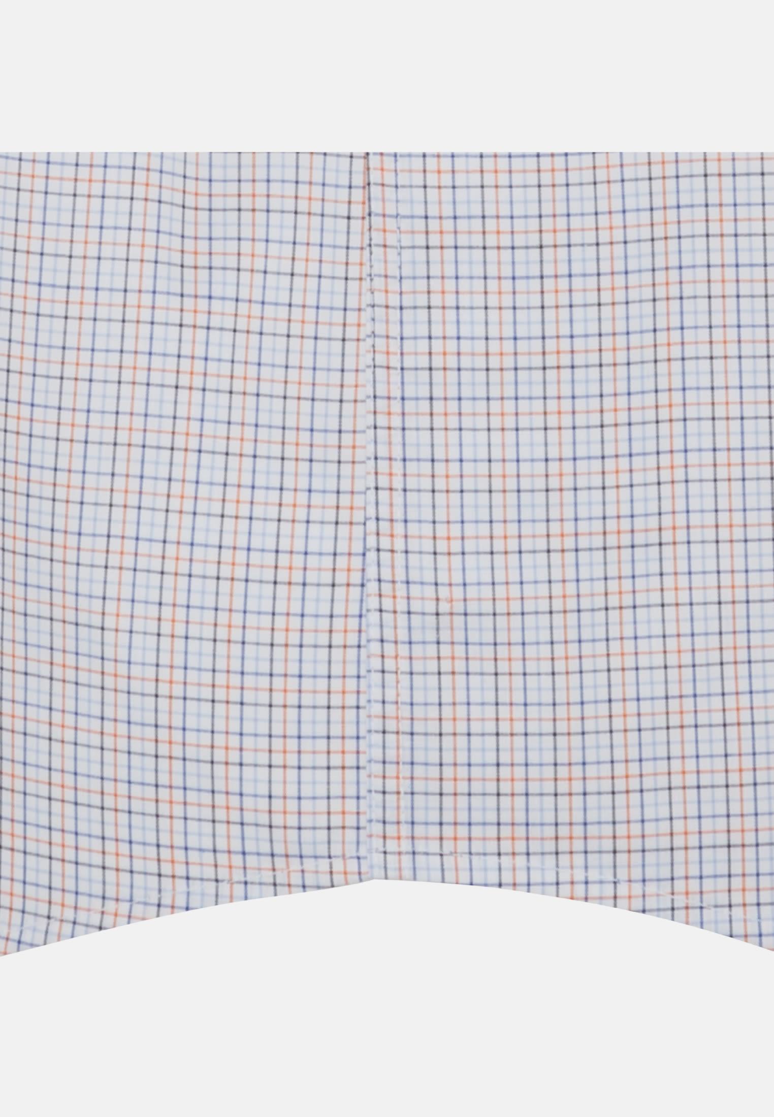 Bügelfreies Popeline Kurzarm Business Hemd in Modern mit Button-Down-Kragen in Orange    Seidensticker Onlineshop