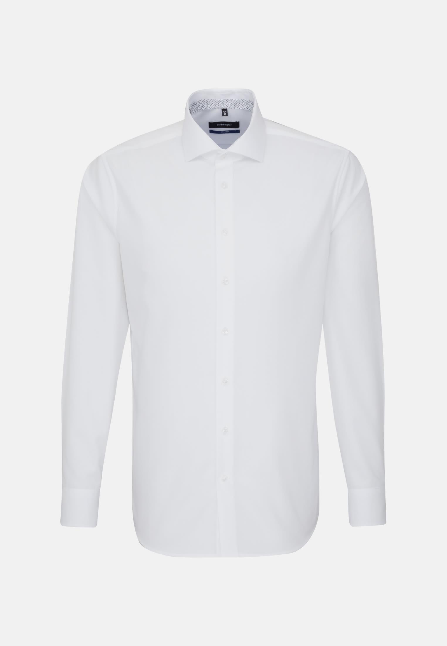 Non-iron Poplin Business Shirt in Tailored with Kent-Collar in weiß |  Seidensticker Onlineshop