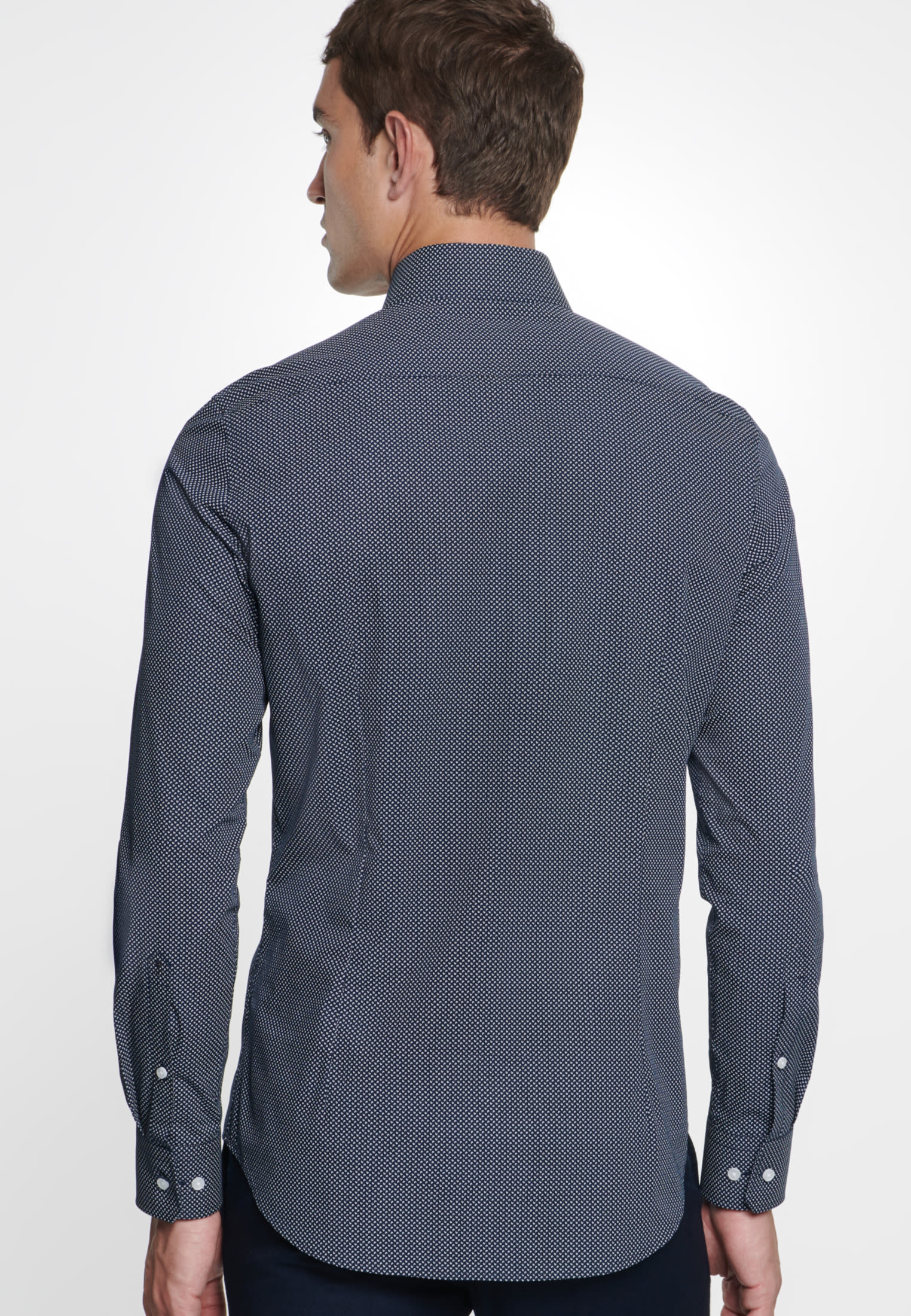 Easy-iron Poplin Business Shirt in Slim with Kent-Collar in Dark blue |  Seidensticker Onlineshop