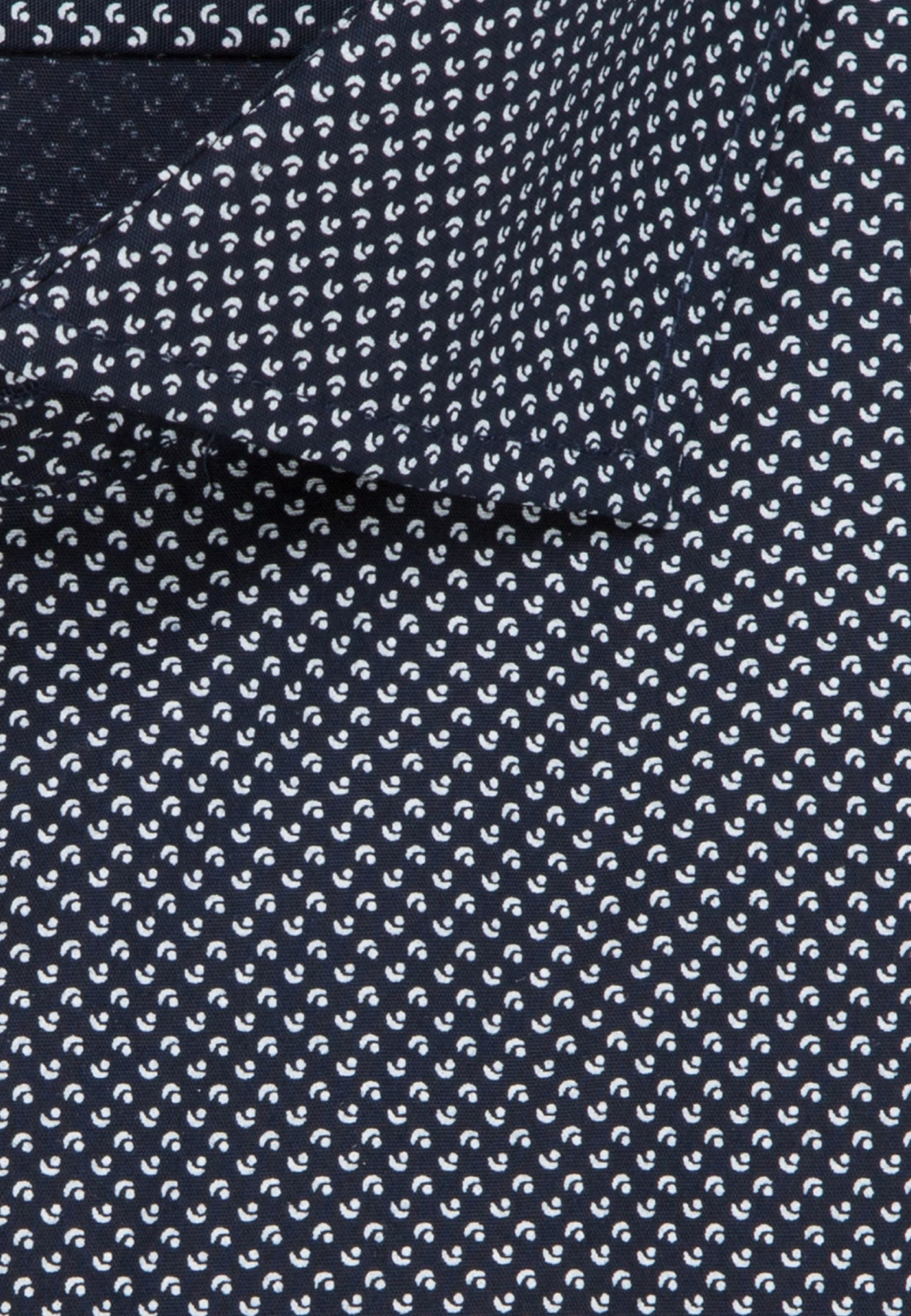 Easy-iron Poplin Business Shirt in Shaped with Kent-Collar and extra long arm in Dark blue |  Seidensticker Onlineshop