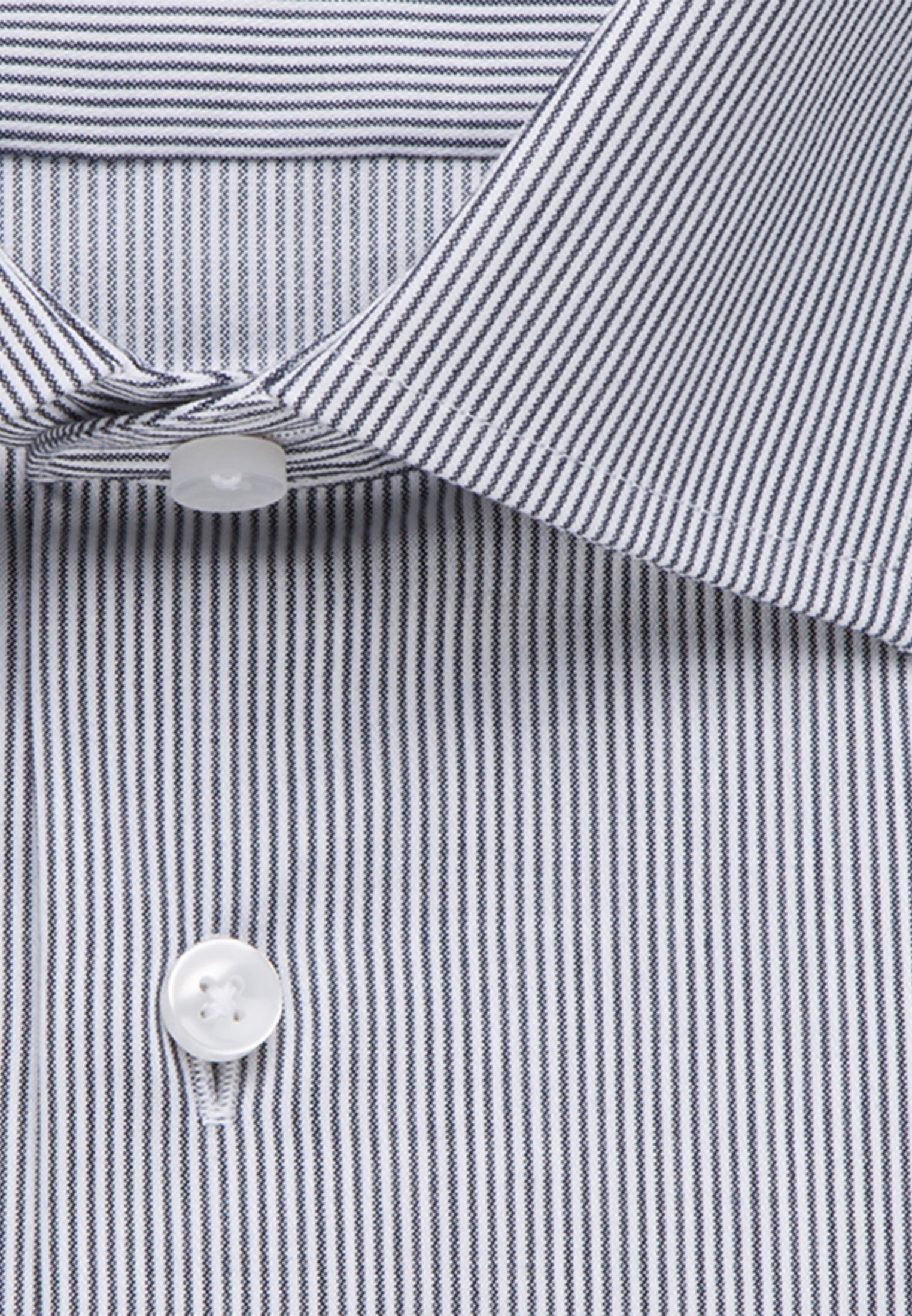 Easy-iron Cotele Business Shirt in Shaped with Kent-Collar in Dark blue |  Seidensticker Onlineshop