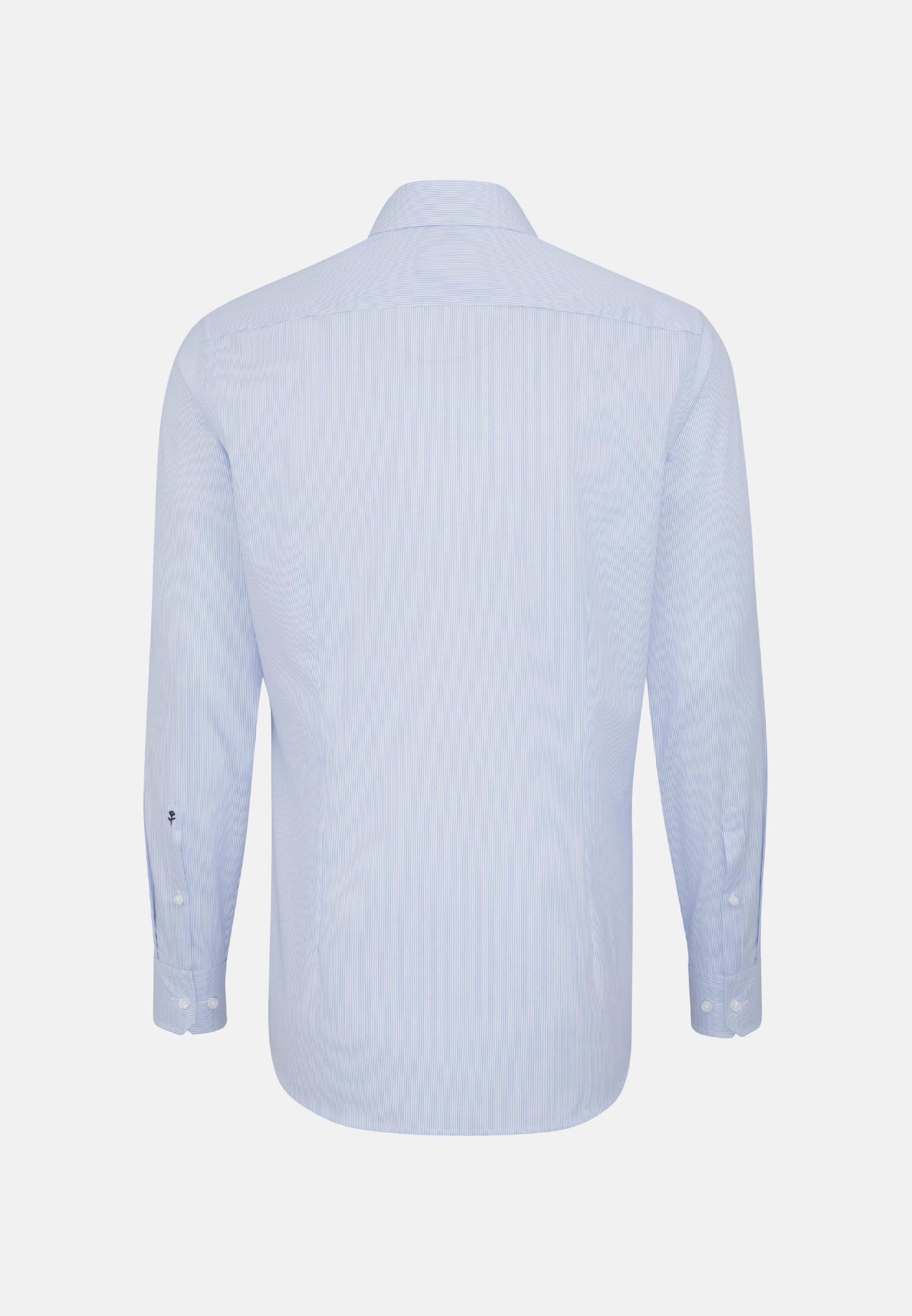Bügelleichtes Cotele Business Hemd in Shaped mit Kentkragen in Hellblau    Seidensticker Onlineshop