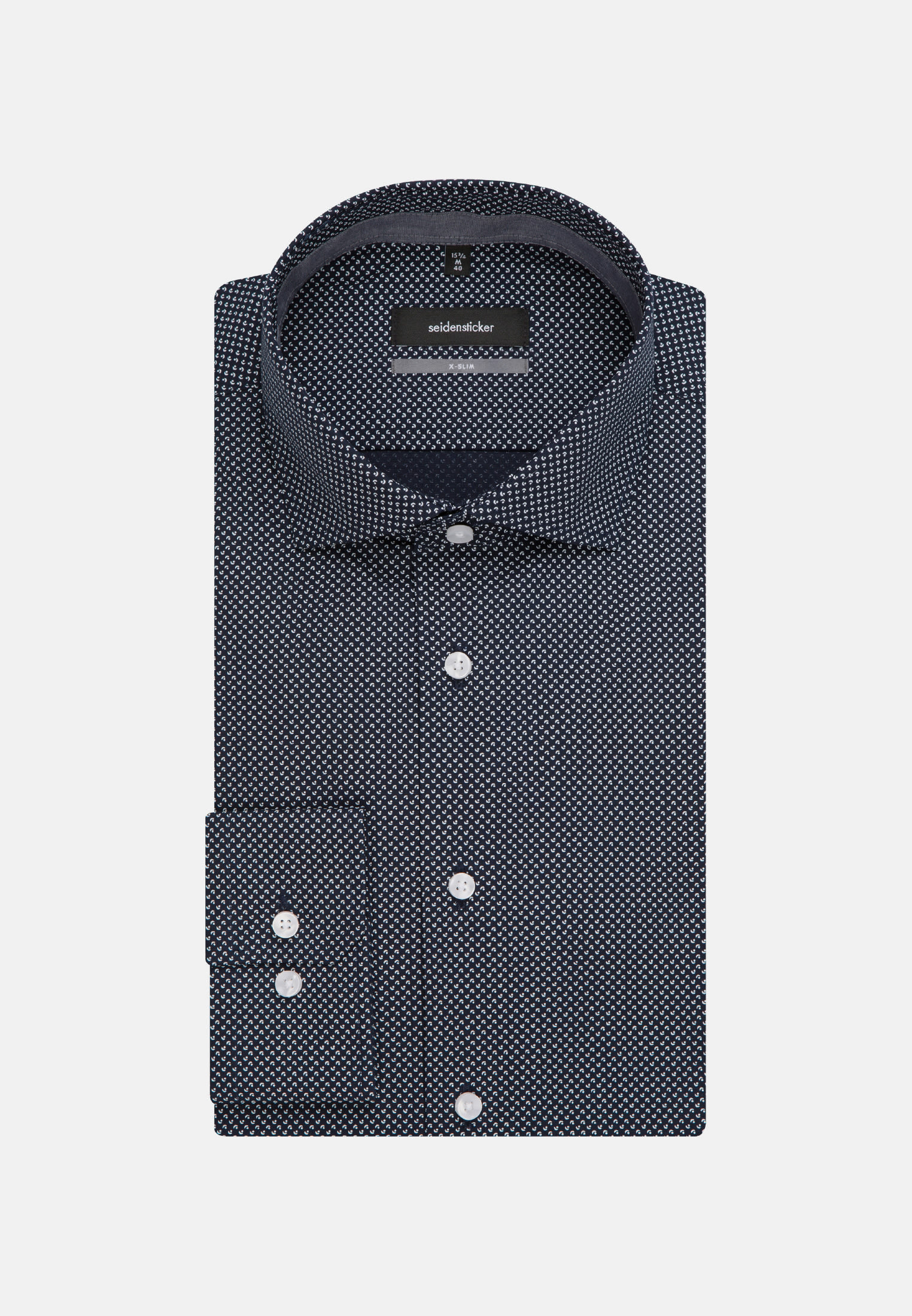 Easy-iron Poplin Business Shirt in X-Slim with Kent-Collar in blau |  Seidensticker Onlineshop