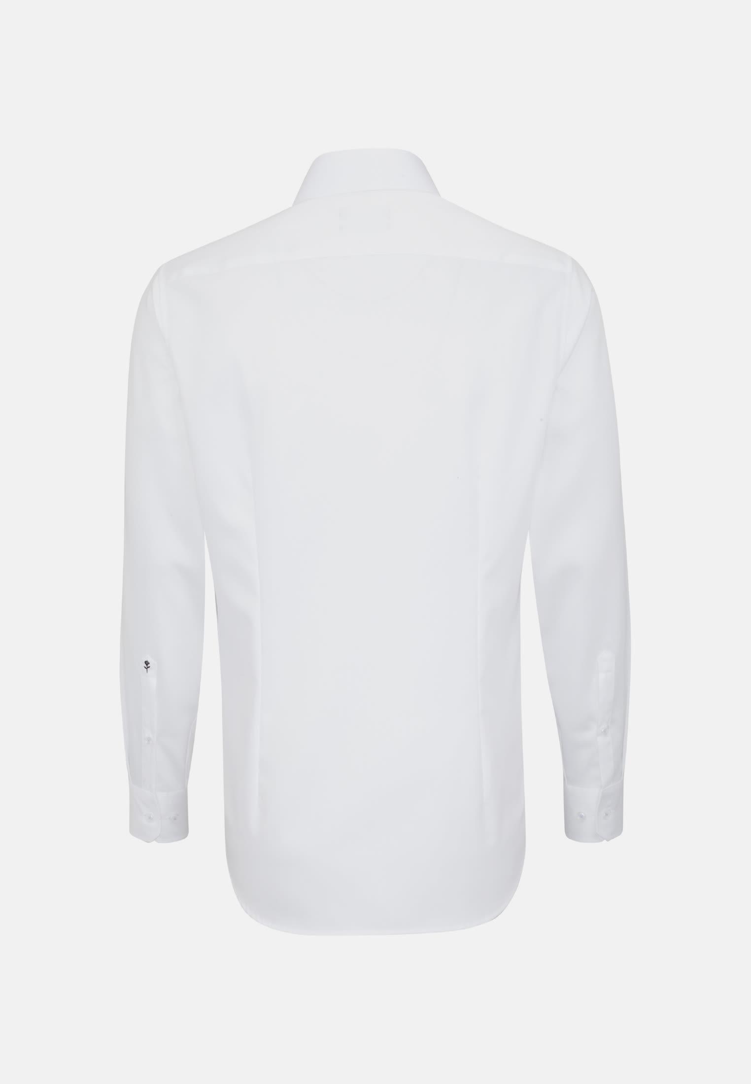 Non-iron Twill Business Shirt in Tailored with Kent-Collar in weiß    Seidensticker Onlineshop