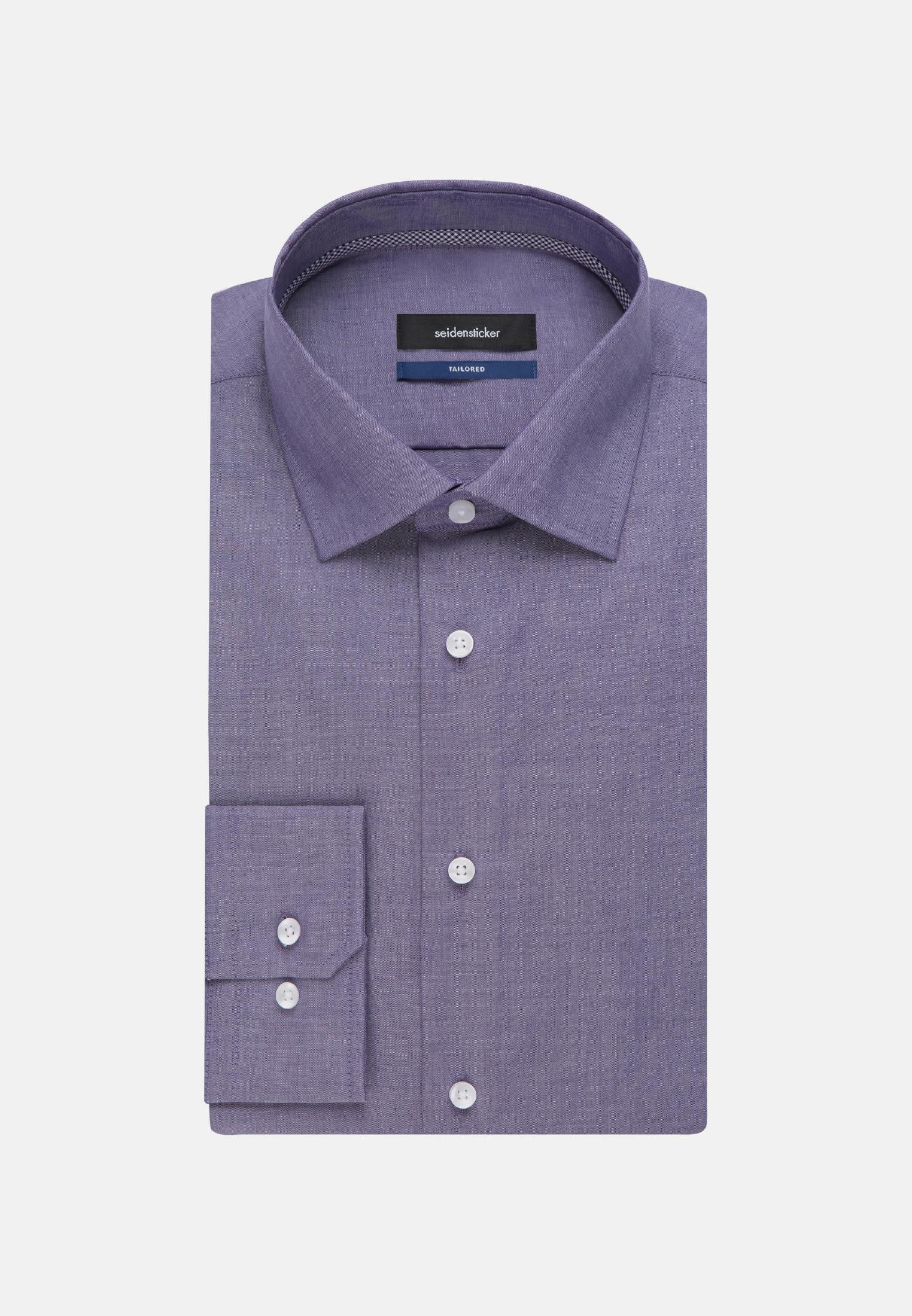 Bügelfreies Chambray Business Hemd in Shaped mit Kentkragen in Lila |  Seidensticker Onlineshop