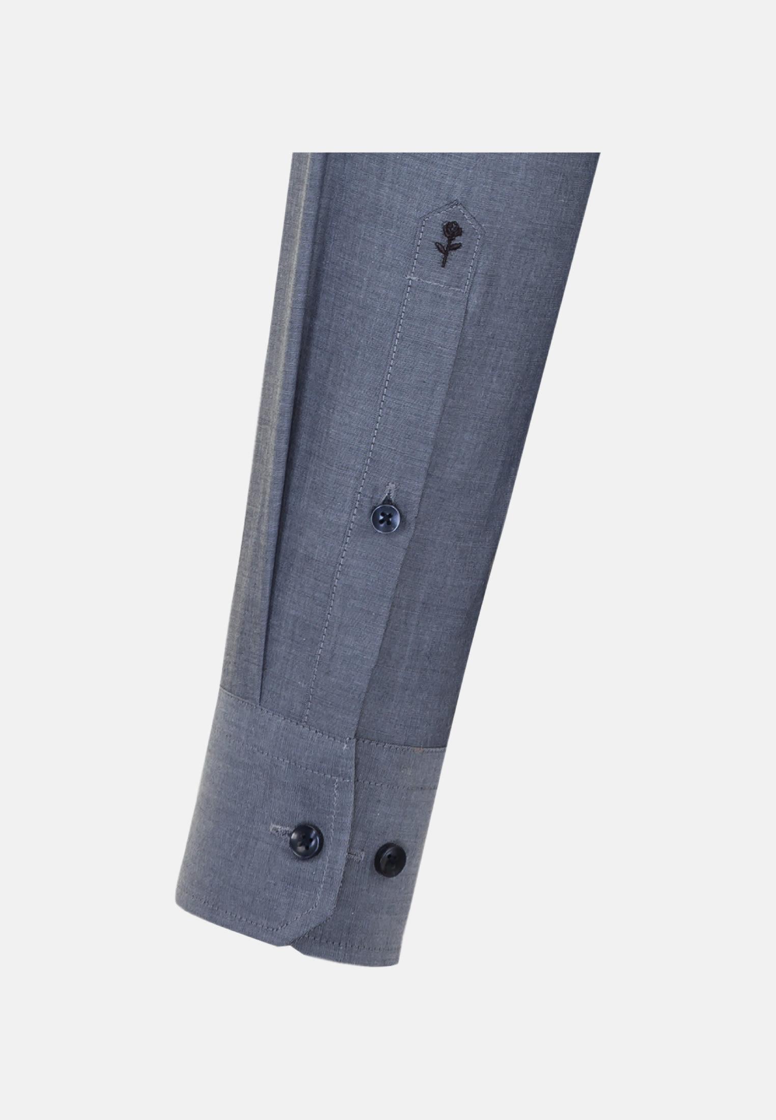Bügelfreies Chambray Business Hemd in Shaped mit Kentkragen in Dunkelblau |  Seidensticker Onlineshop