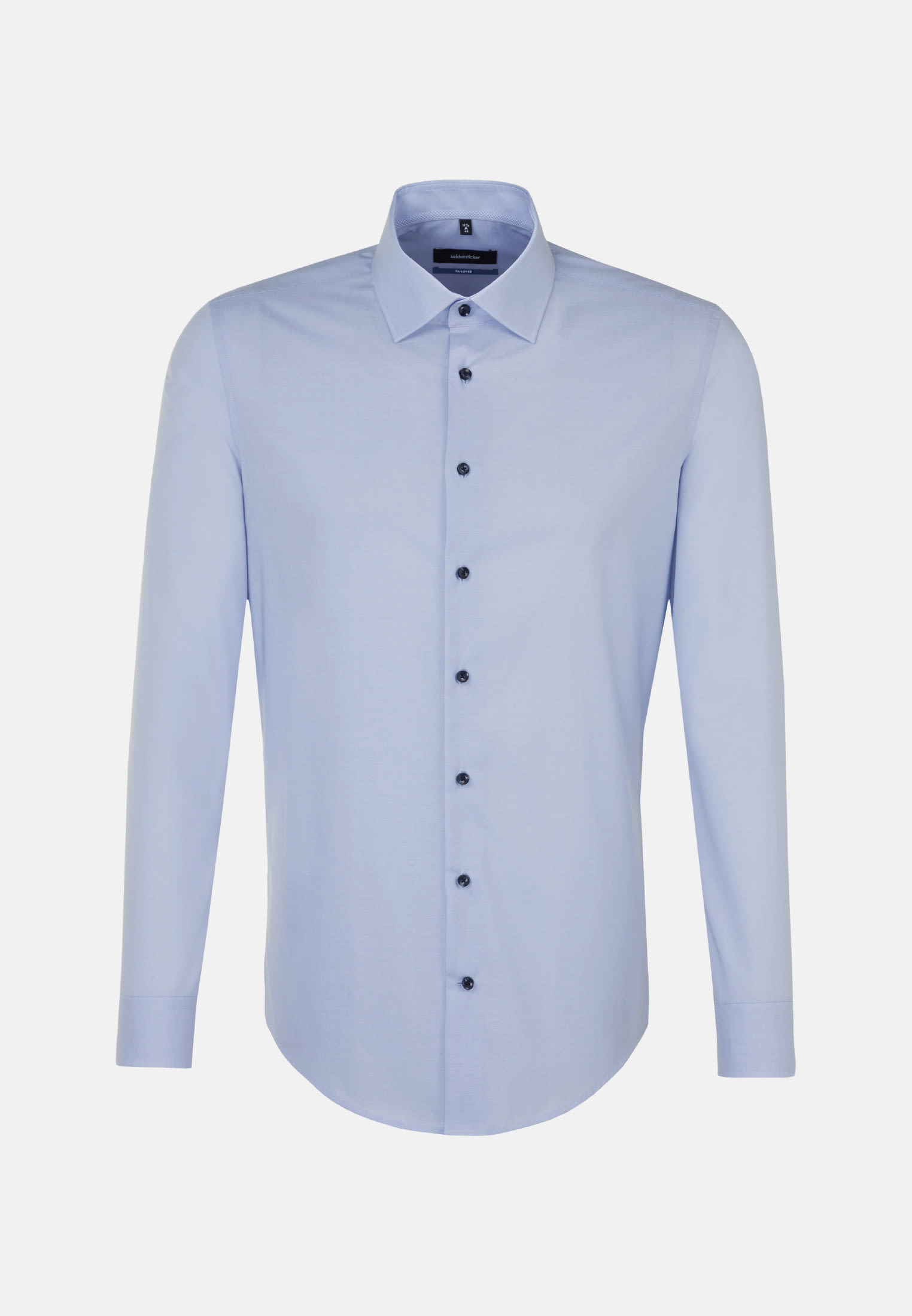 Non-iron Chambray Business Shirt in Shaped with Kent-Collar in Light blue |  Seidensticker Onlineshop