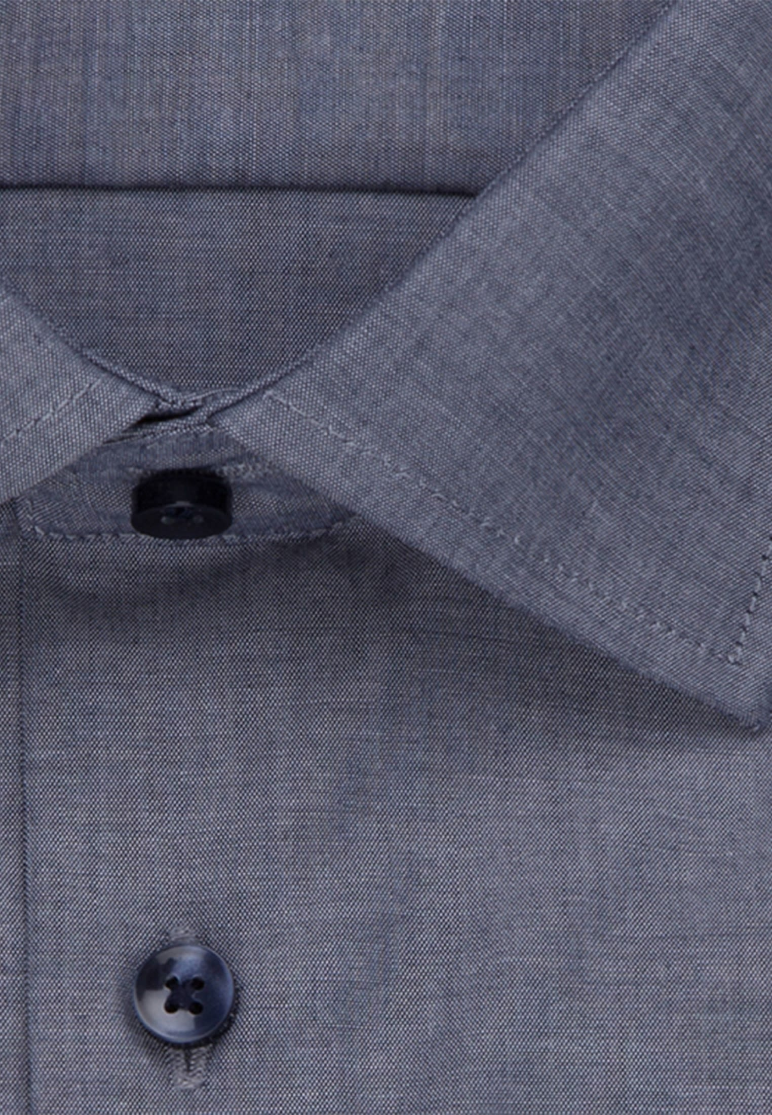 Bügelfreies Chambray Business Hemd in X-Slim mit Kentkragen in Dunkelblau |  Seidensticker Onlineshop