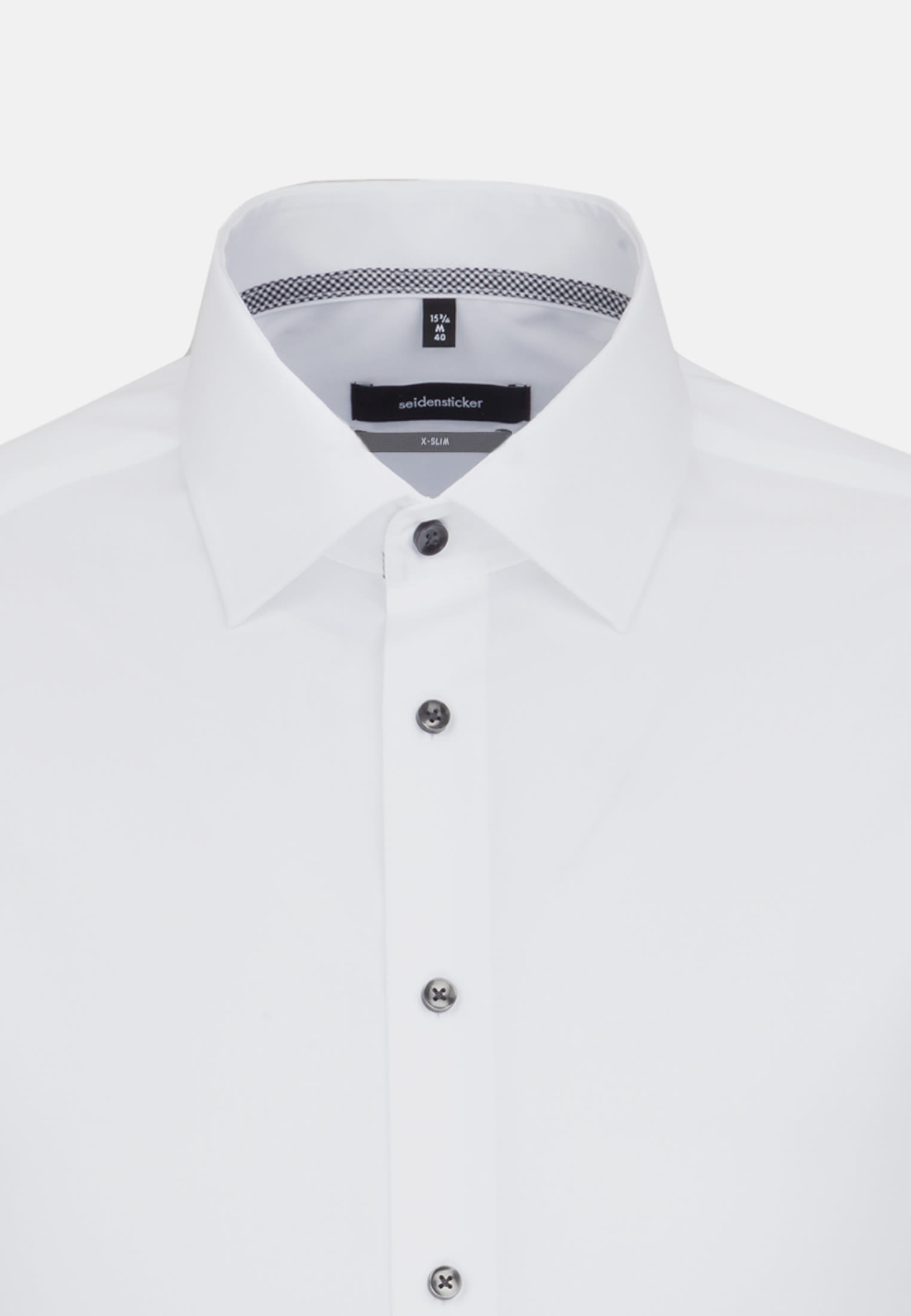 Non-iron Chambray Business Shirt in X-Slim with Kent-Collar in weiß |  Seidensticker Onlineshop