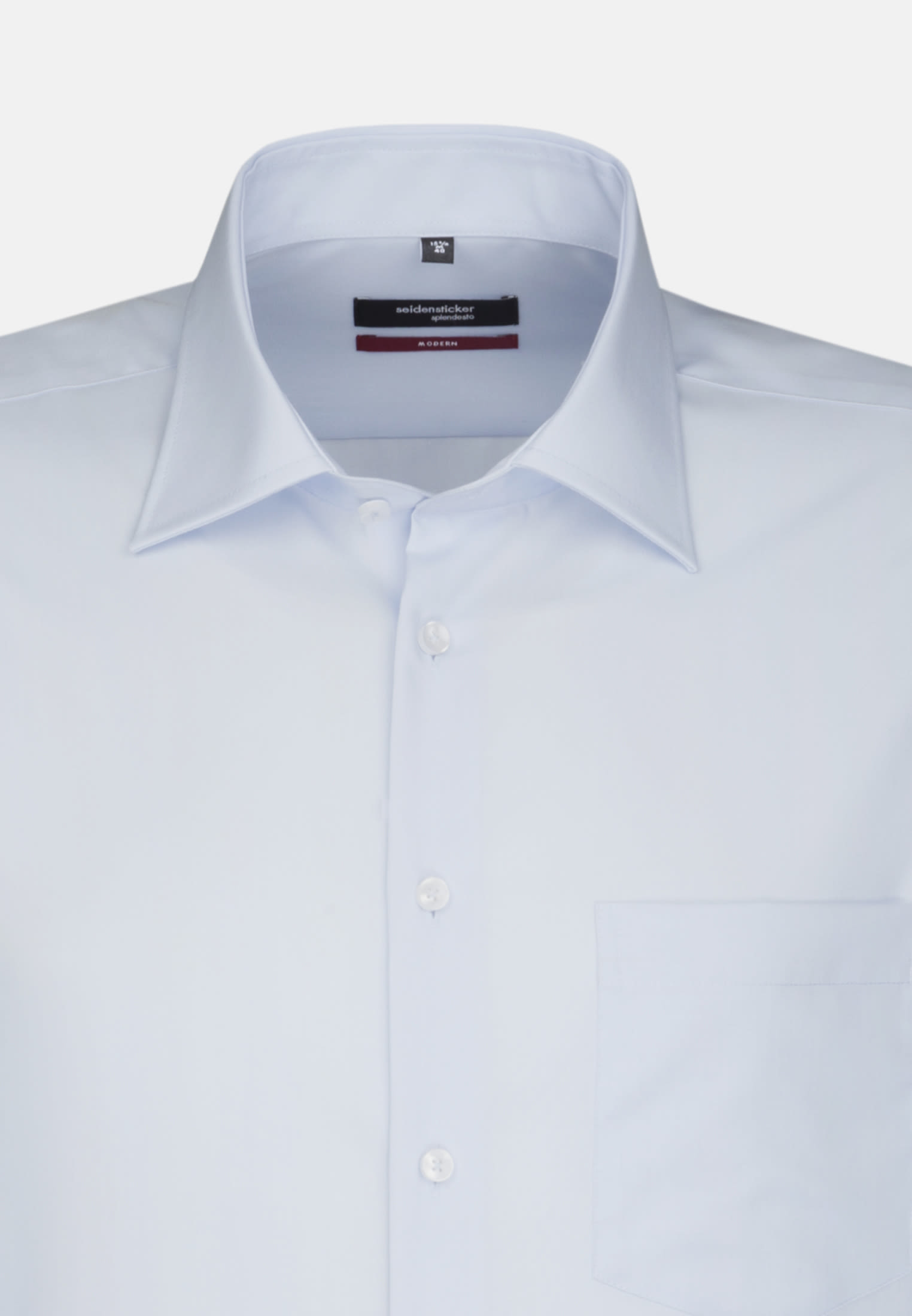 Non-iron Poplin Business Shirt in Regular with Kent-Collar in Hellblau |  Seidensticker Onlineshop
