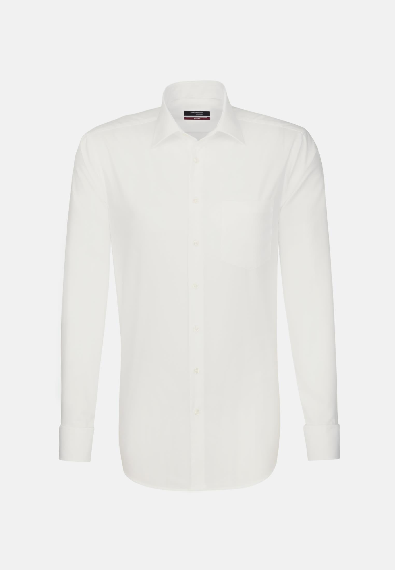 Non-iron Poplin Business Shirt in Modern with Kent-Collar in Braun |  Seidensticker Onlineshop