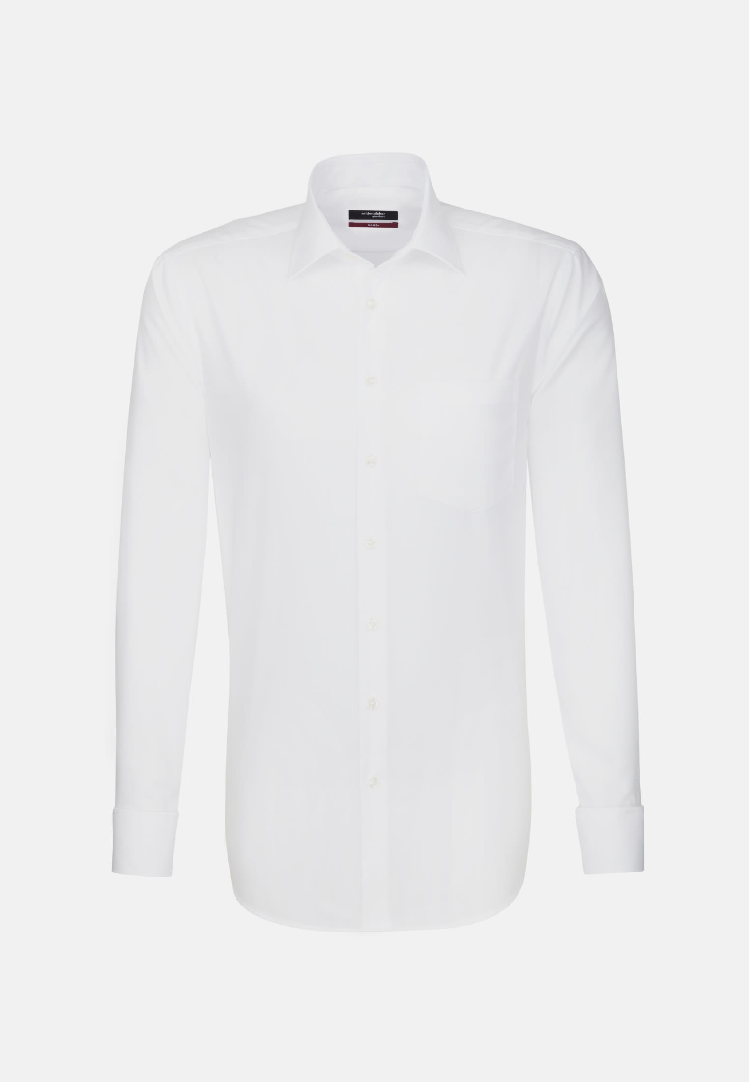 Non-iron Poplin Business Shirt in Modern with Kent-Collar in White |  Seidensticker Onlineshop