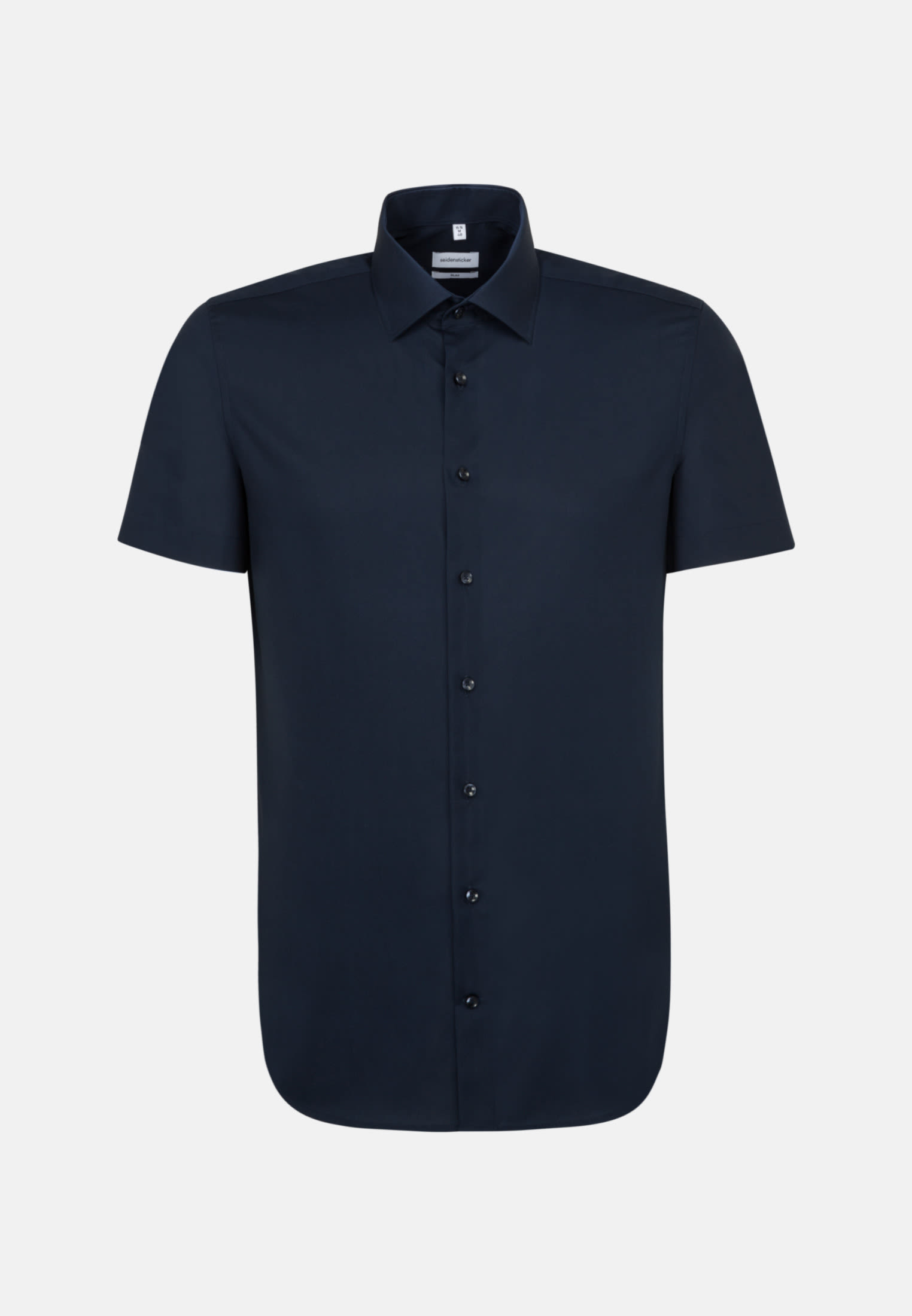 Non-iron Poplin Short sleeve Business Shirt in Slim with Kent-Collar in Dark blue |  Seidensticker Onlineshop