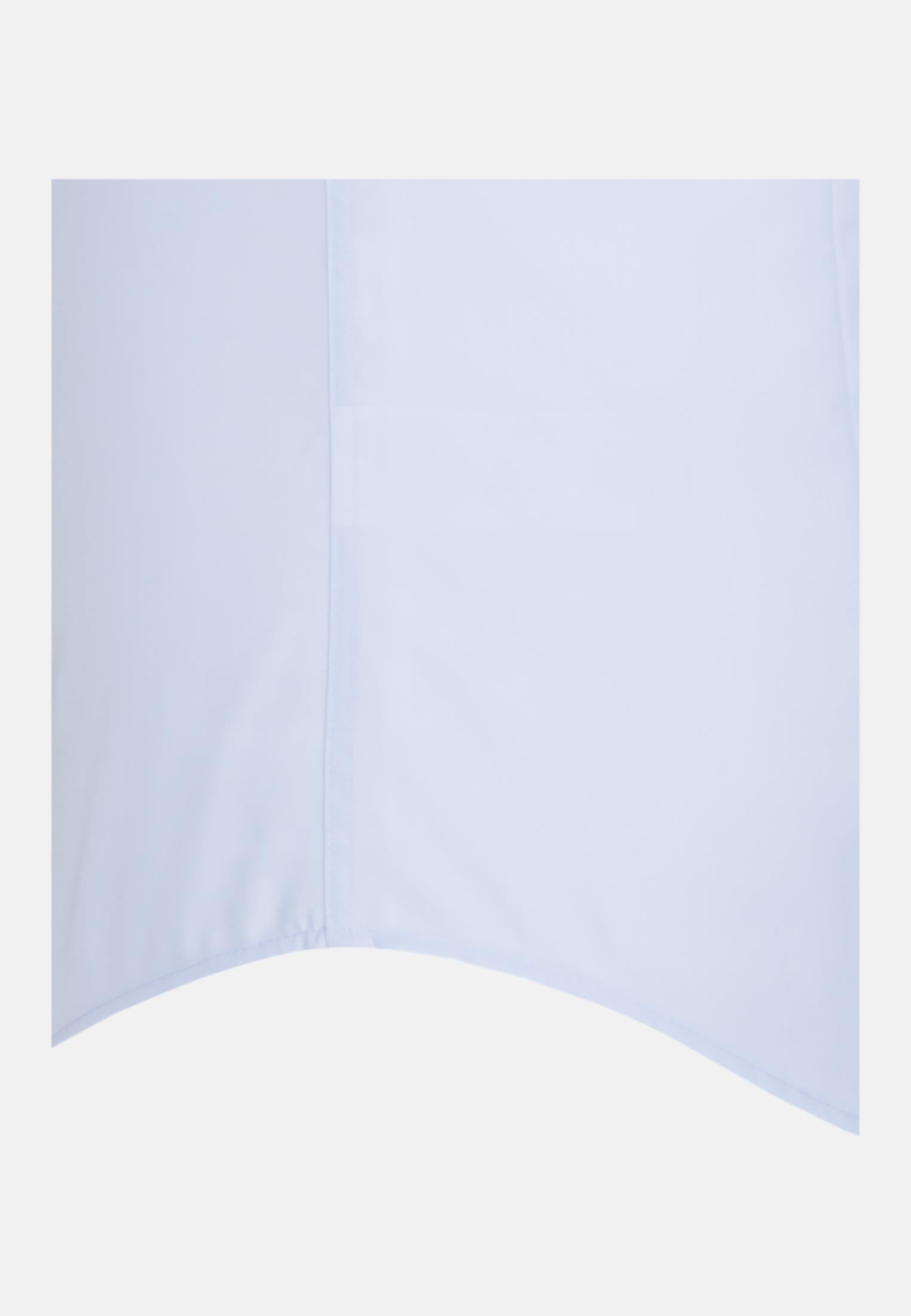 Non-iron Poplin Short arm Business Shirt in Slim with Kent-Collar in Medium blue |  Seidensticker Onlineshop