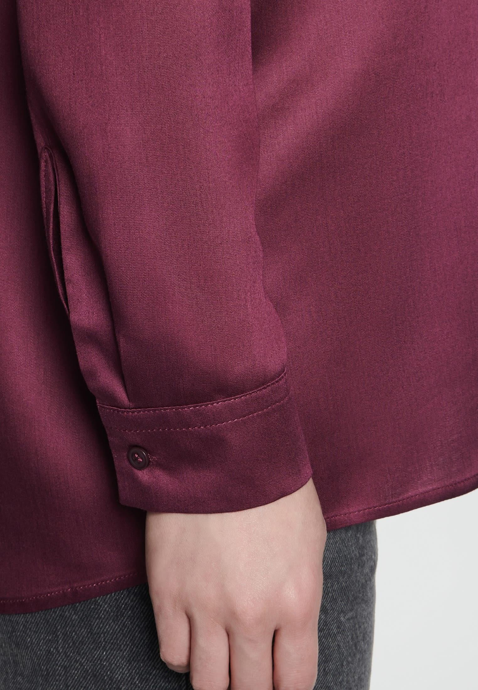 Satin Schlupfbluse aus 100% Viskose in Rot |  Seidensticker Onlineshop