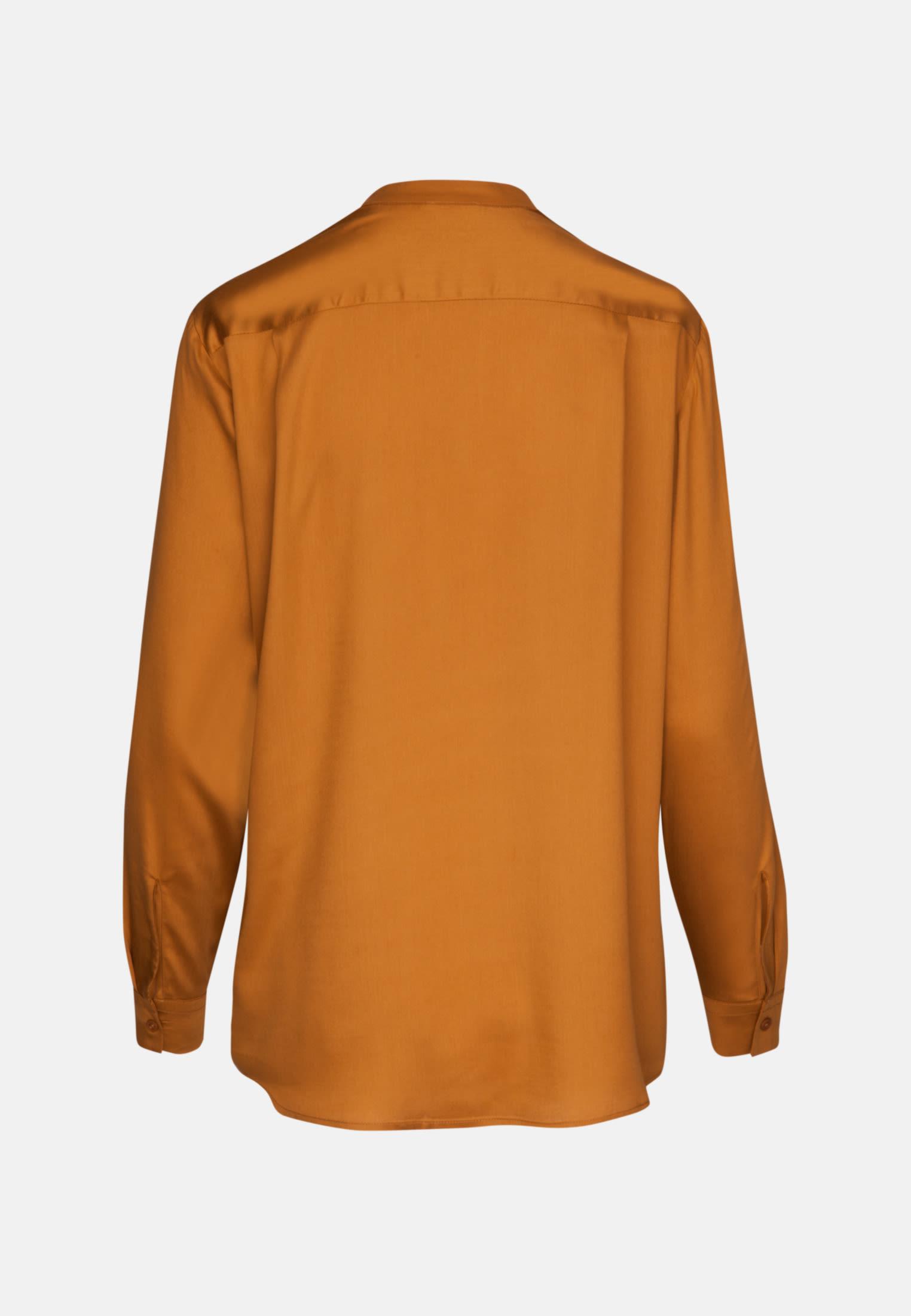 Satin Schlupfbluse aus 100% Viskose in Orange |  Seidensticker Onlineshop