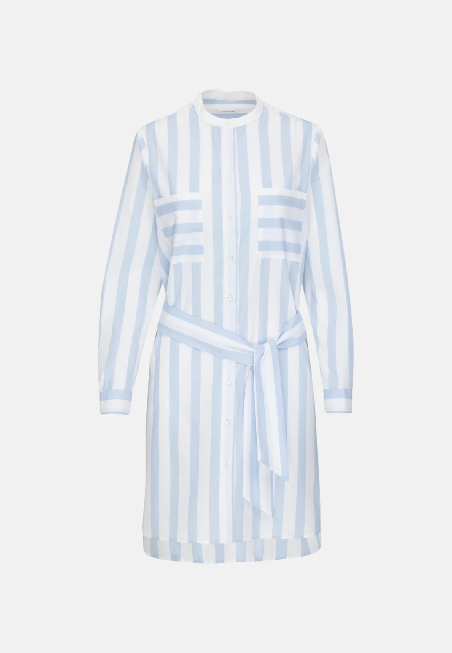 Poplin Dress made of 100% Cotton in Chambray Blue |  Seidensticker Onlineshop