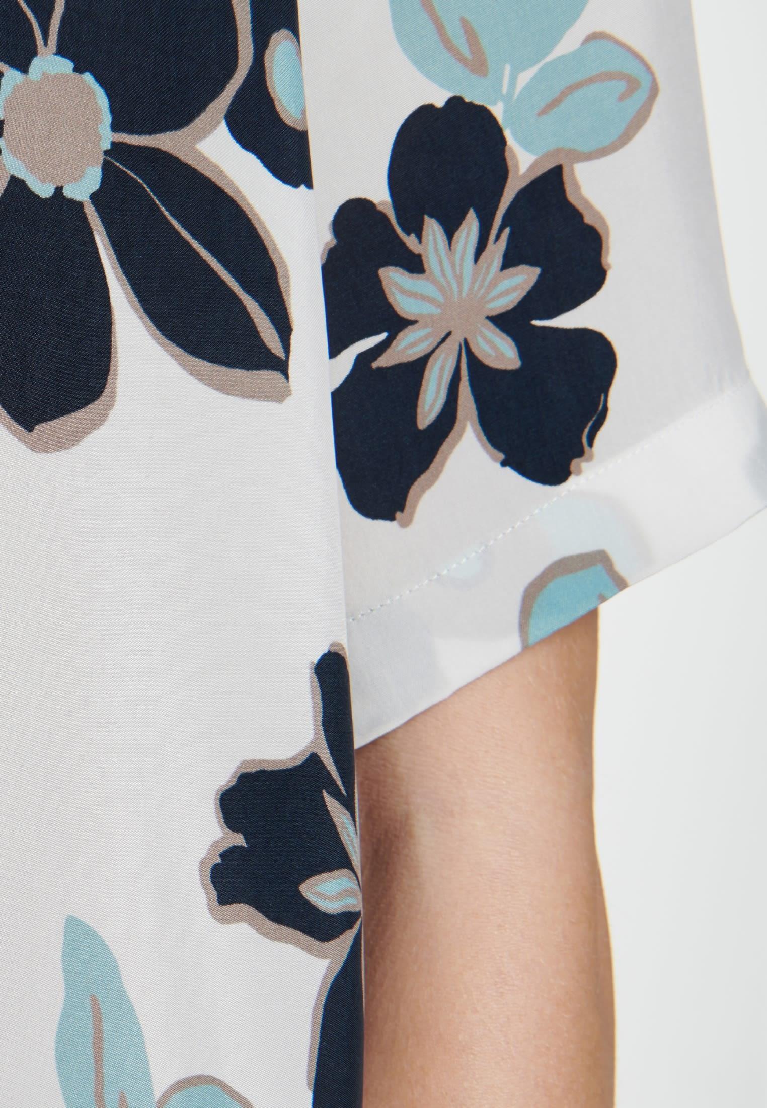 Short sleeve Shirt Blouse made of 100% Cupro in Ecru |  Seidensticker Onlineshop
