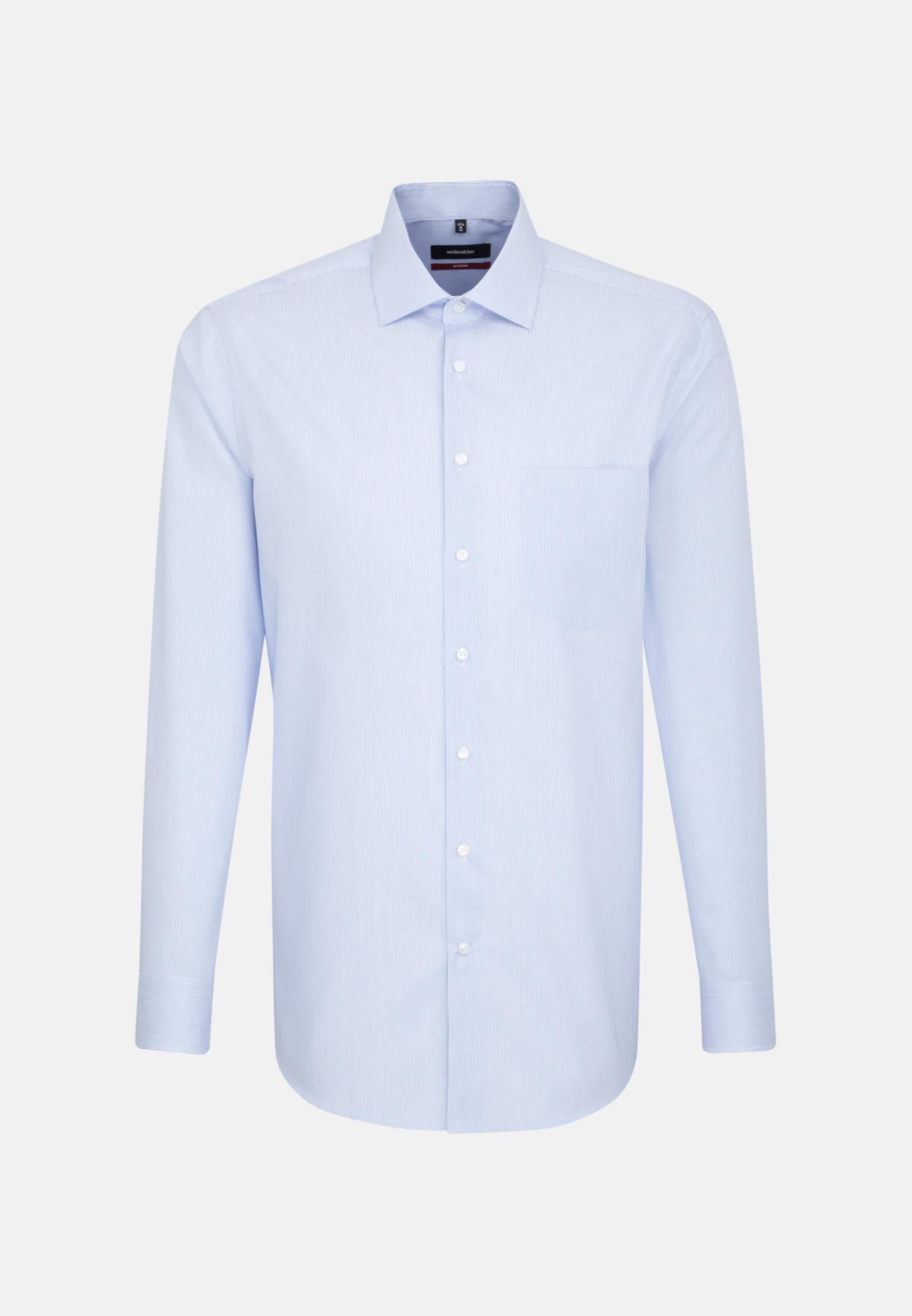 Easy-iron Cotele Business Shirt in Modern with Kent-Collar in Light blue |  Seidensticker Onlineshop