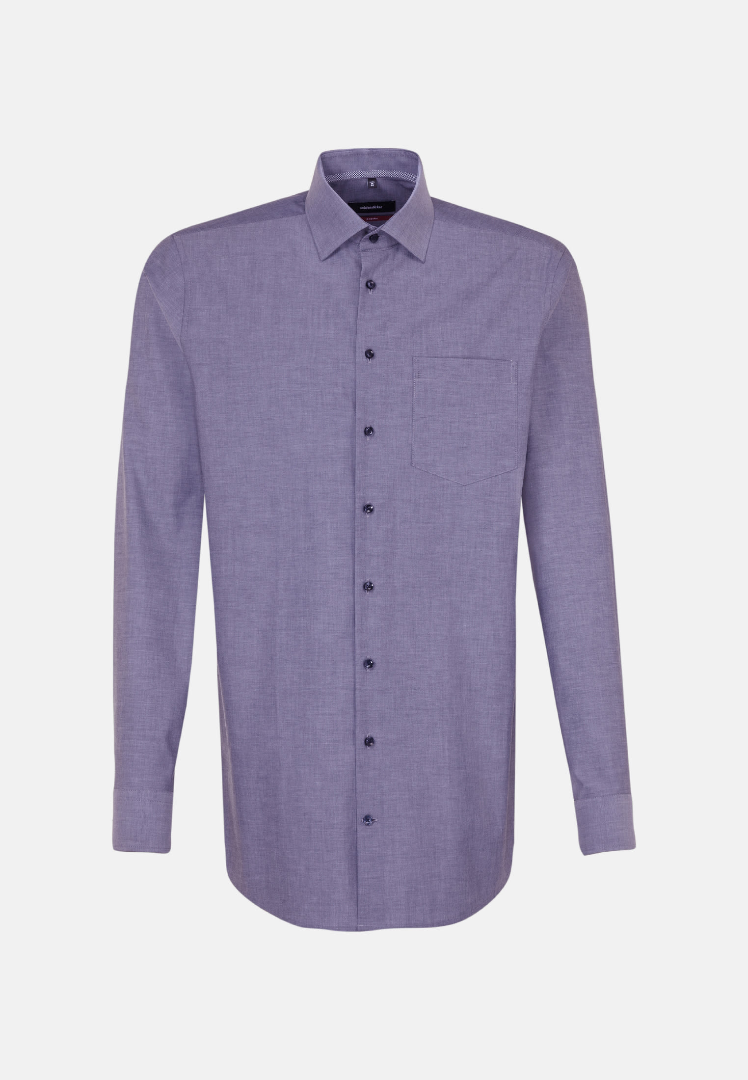 Non-iron Chambray Business Shirt in Regular with Kent-Collar in Purple |  Seidensticker Onlineshop