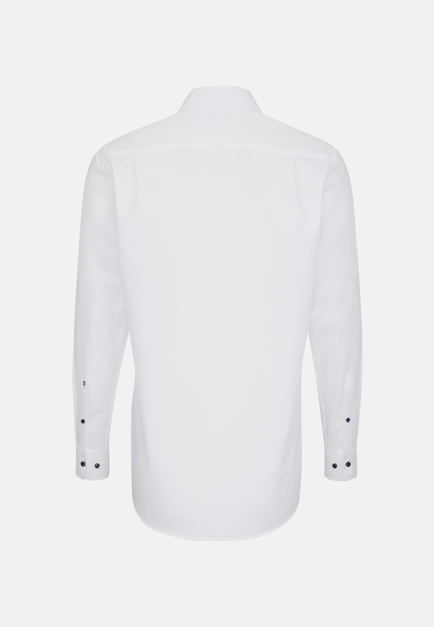 Non-iron Poplin Business Shirt in Modern with Kent-Collar in weiß    Seidensticker Onlineshop