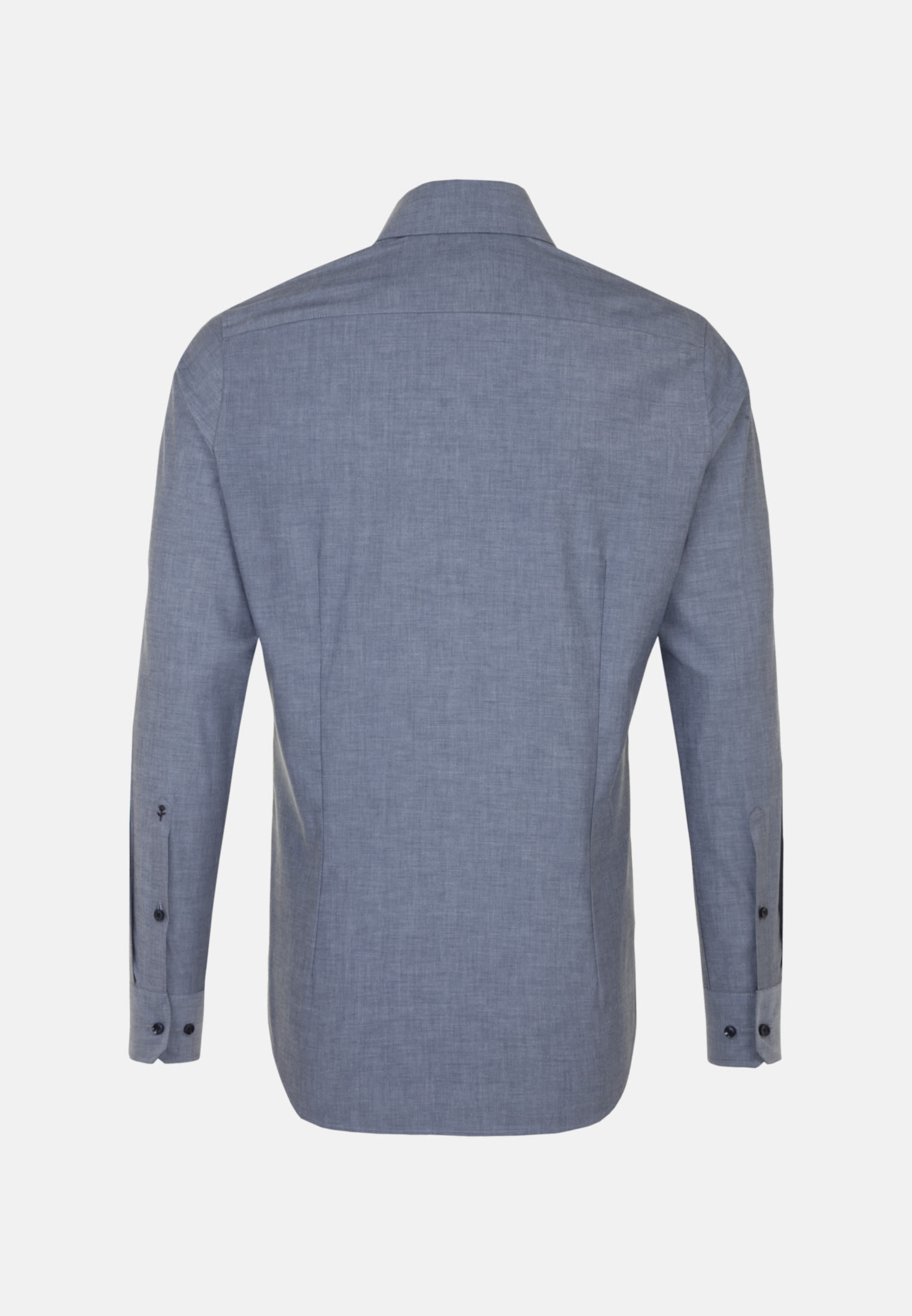 Non-iron Chambray Business Shirt in Slim with Kent-Collar in Dark blue |  Seidensticker Onlineshop