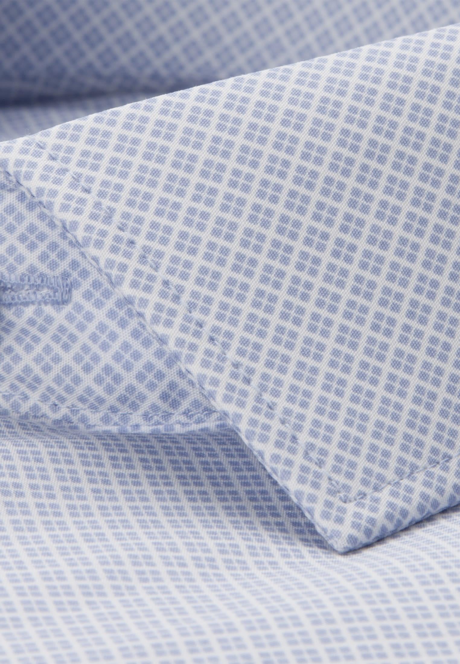 Bügelleichtes Popeline Business Hemd in Slim mit Kentkragen und extra kurzem Arm in Hellblau |  Seidensticker Onlineshop