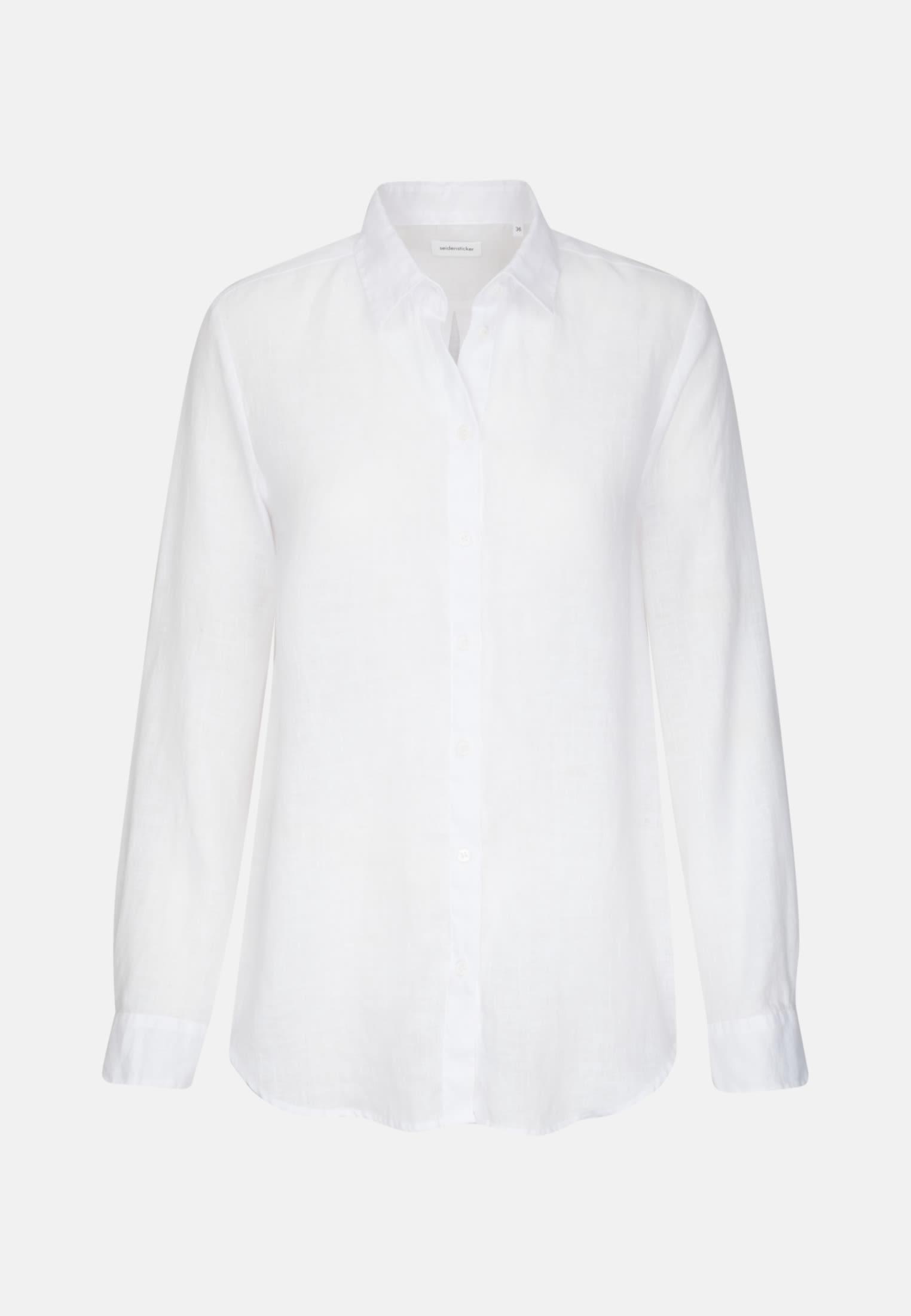 Linen Shirt Blouse made of 100% Leinen/Flachs in weiß |  Seidensticker Onlineshop